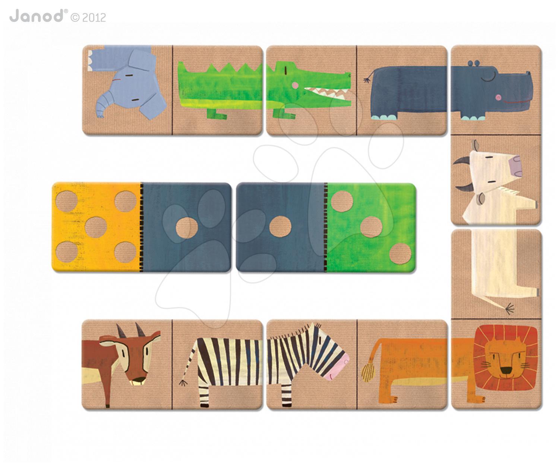 Společenská hra Savannah Domino Suitcase Janod 28 dílů 28 dílů