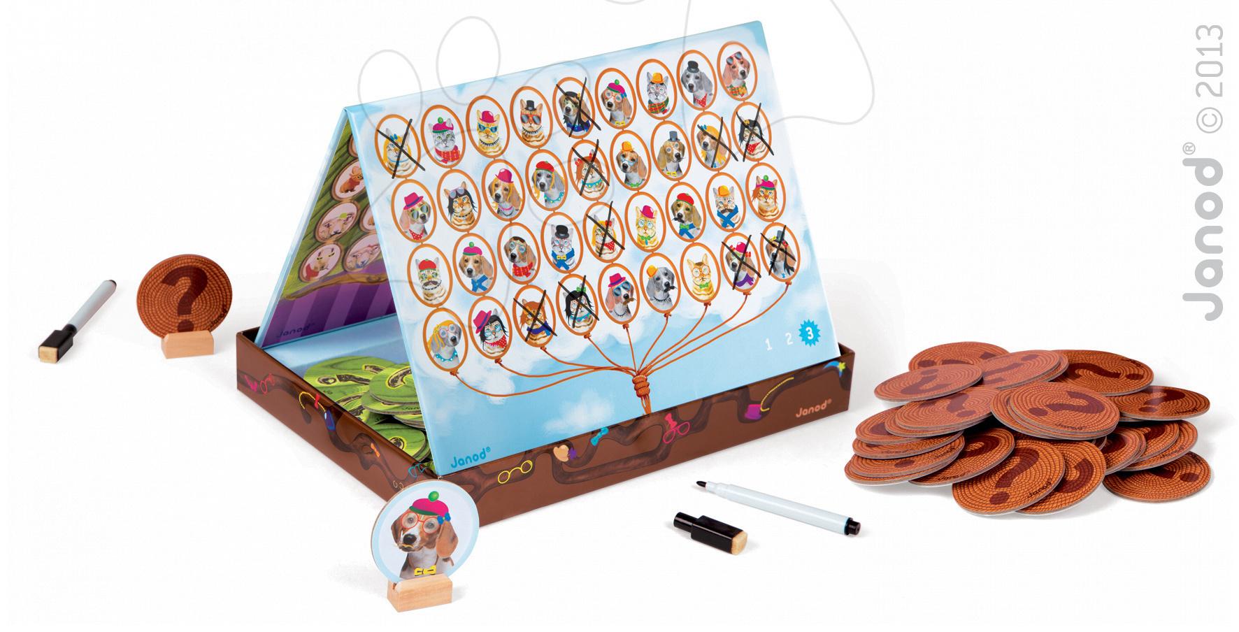 Společenská hra pro děti Who am I? Janod v angličtině od 5-12 let