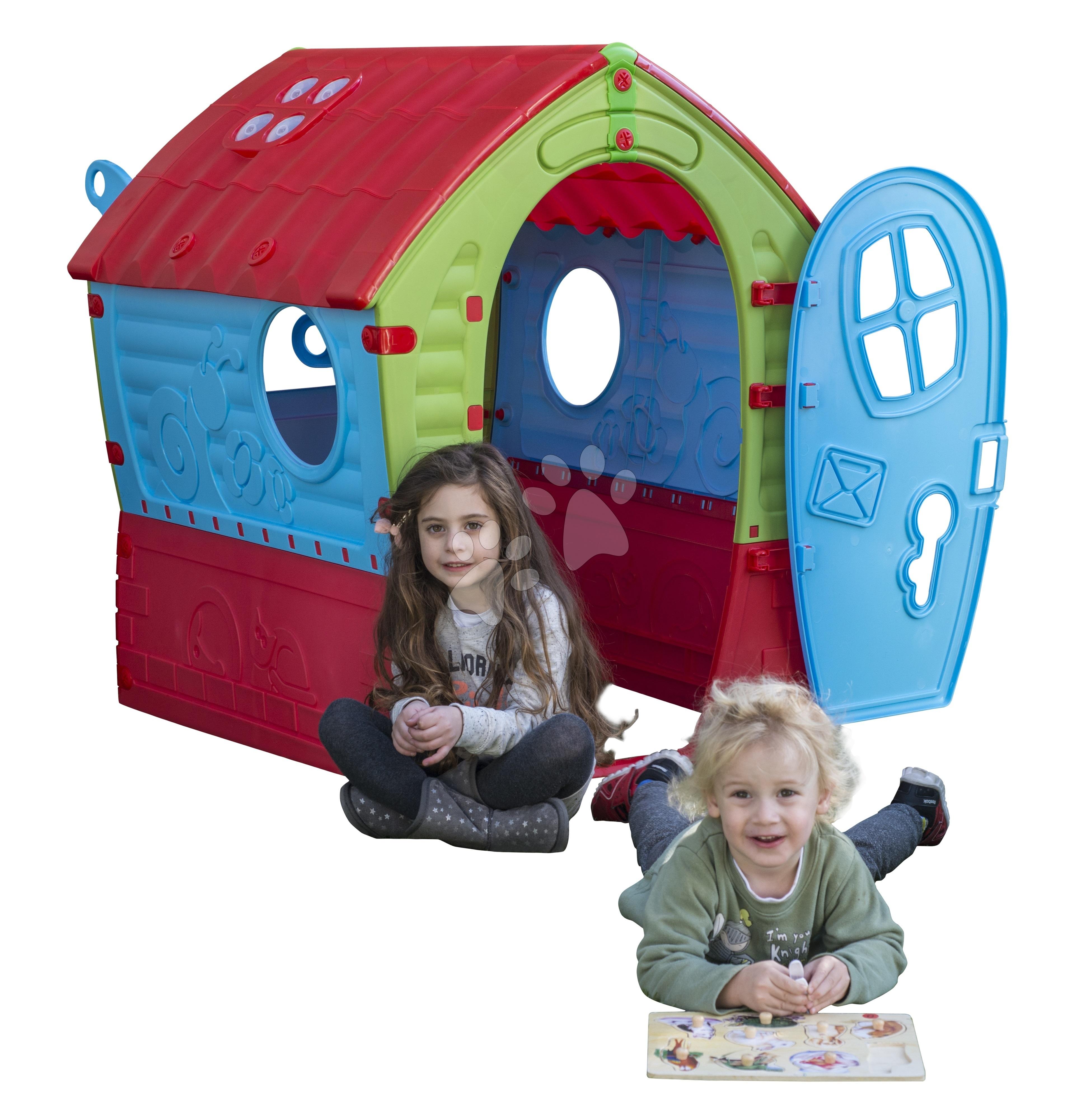 Domčeky pre deti - Domček Fairies Dream House PalPlay červeno-modrý od 24 mes