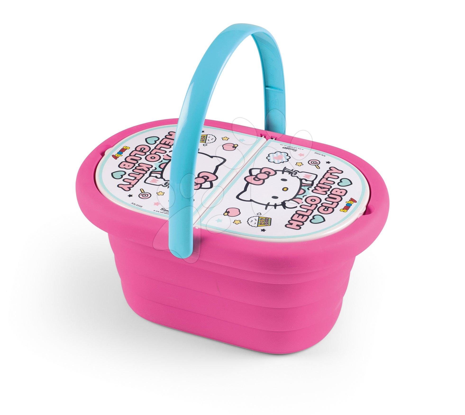 Košík s jídelní soupravou Hello Kitty Smoby s 21 doplňky