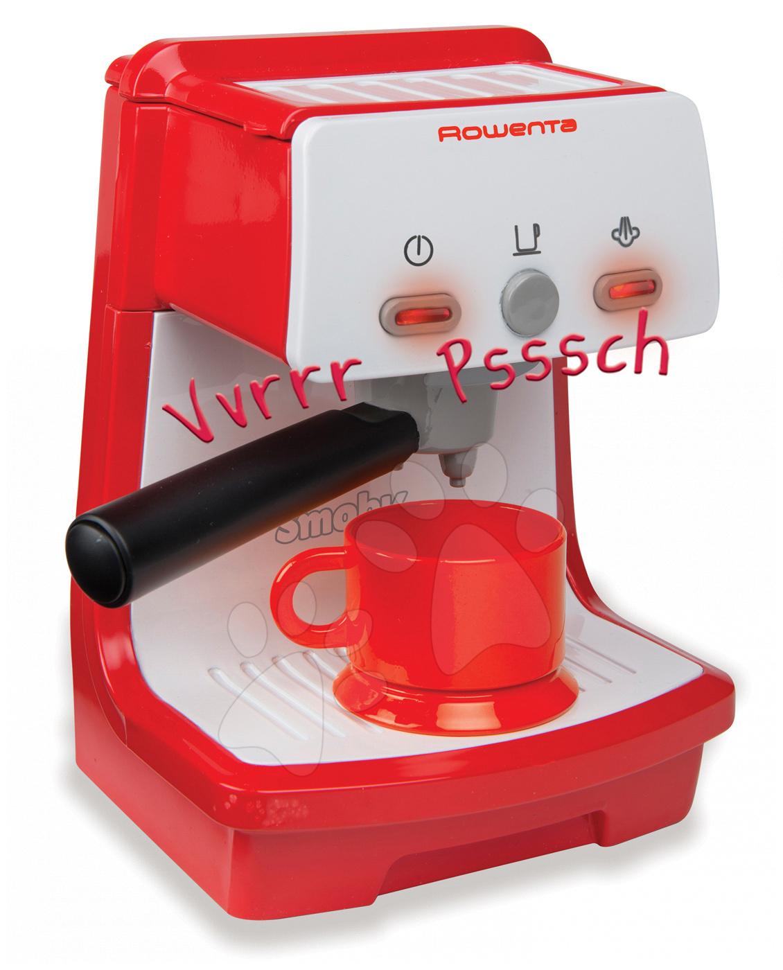 Kávovar Rowenta Expresso Smoby elektronický se zvukem a světlem červený