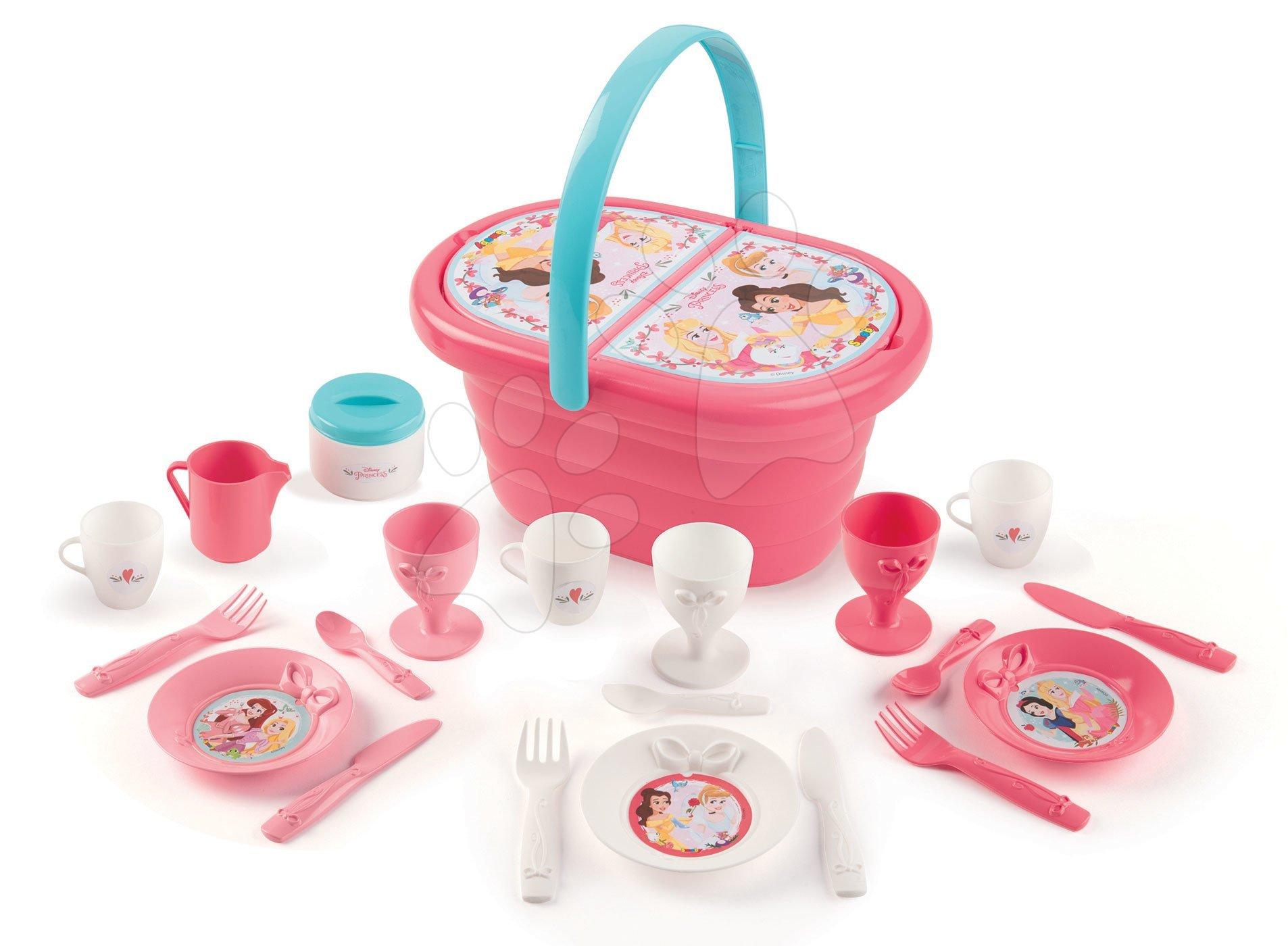 Smoby košík s obedovou súpravou Princezné Picnic Basket s 21 doplnkami 310573