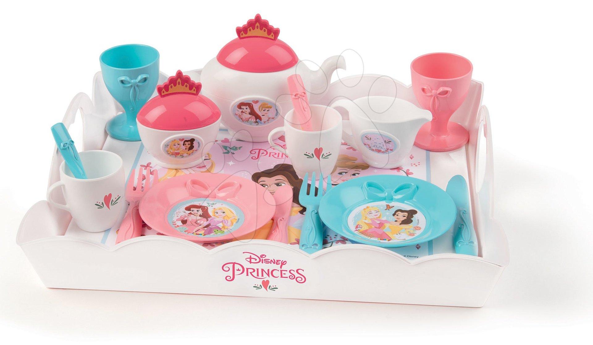 Servírovacia tácka Princezné Tea Time Tray XL Smoby s čajovou súpravou 17-dielna