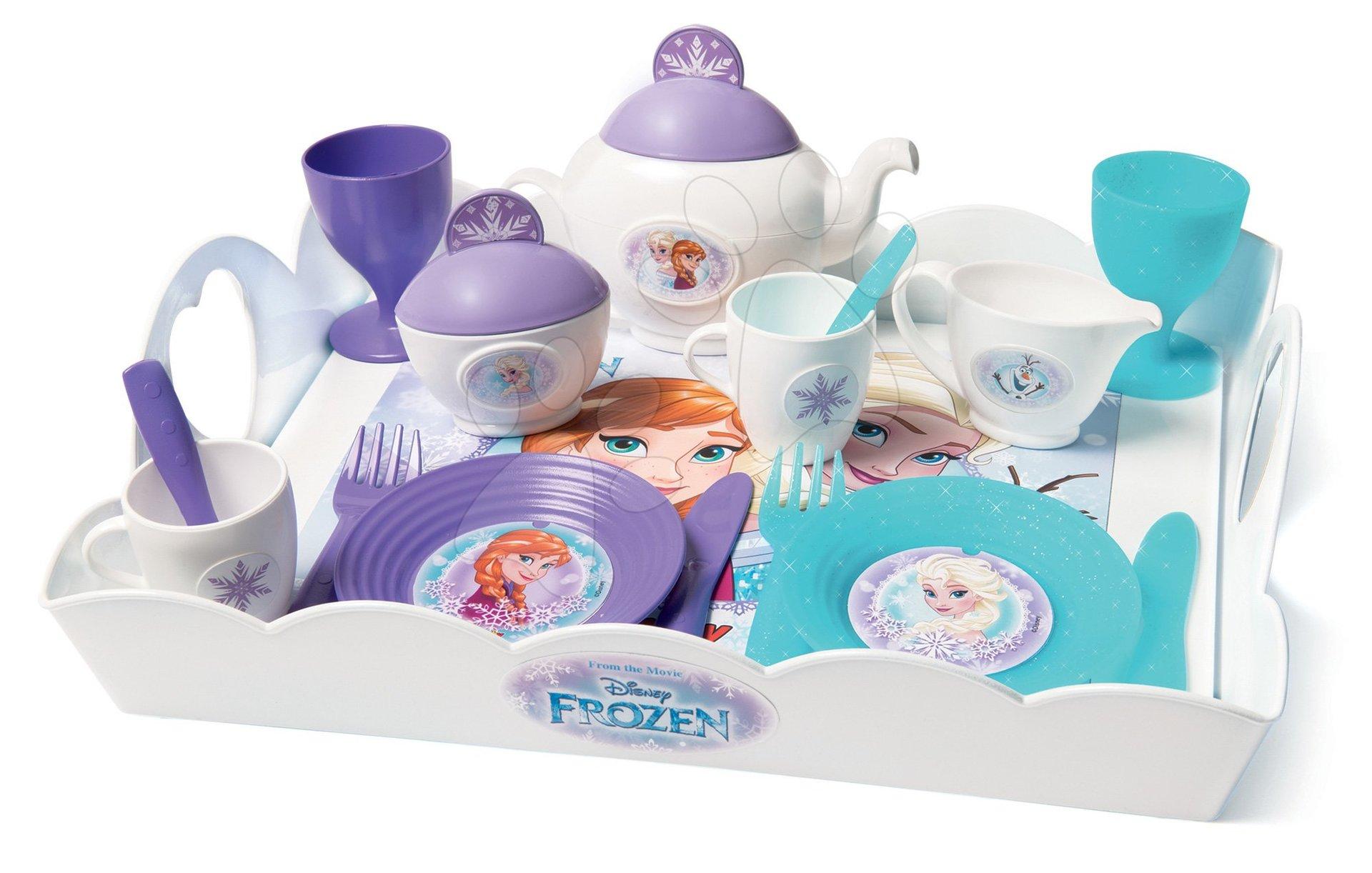 Servírovacia tácka Frozen XL Tea Time Smoby so 17 doplnkami fialová