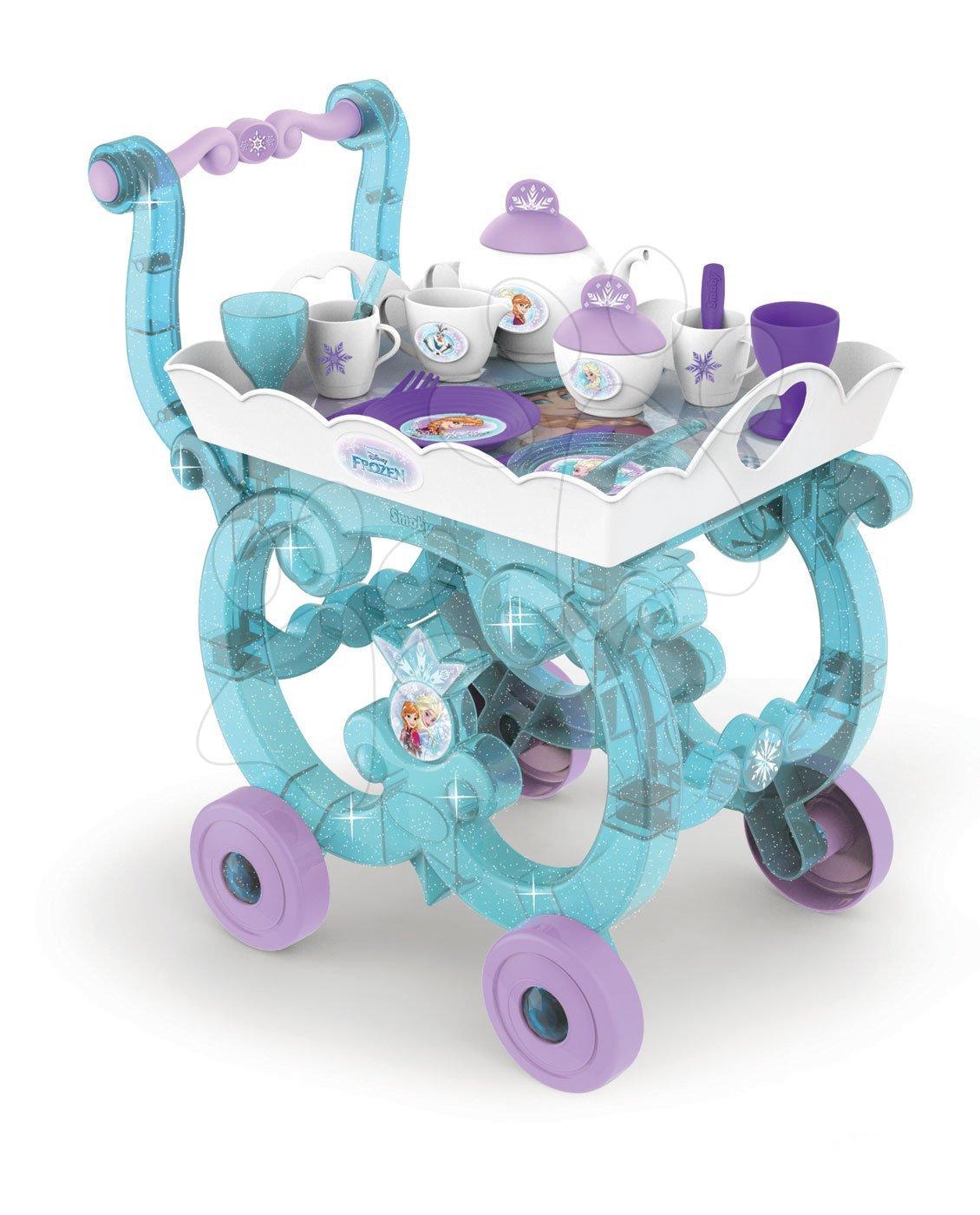 Servírovací vozík Frozen XL Tea Trolley Smoby se 17 doplňky fialový