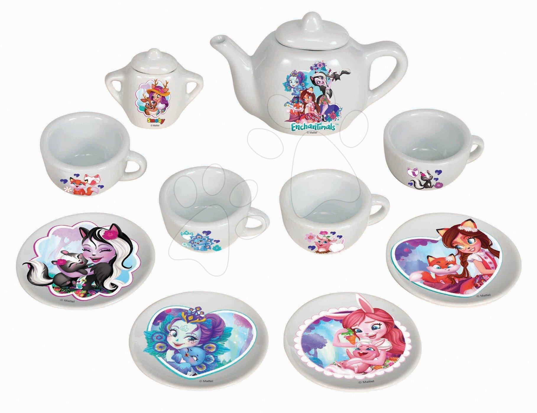 Porcelánová čajová souprava Enchantimals Smoby 12 dílů
