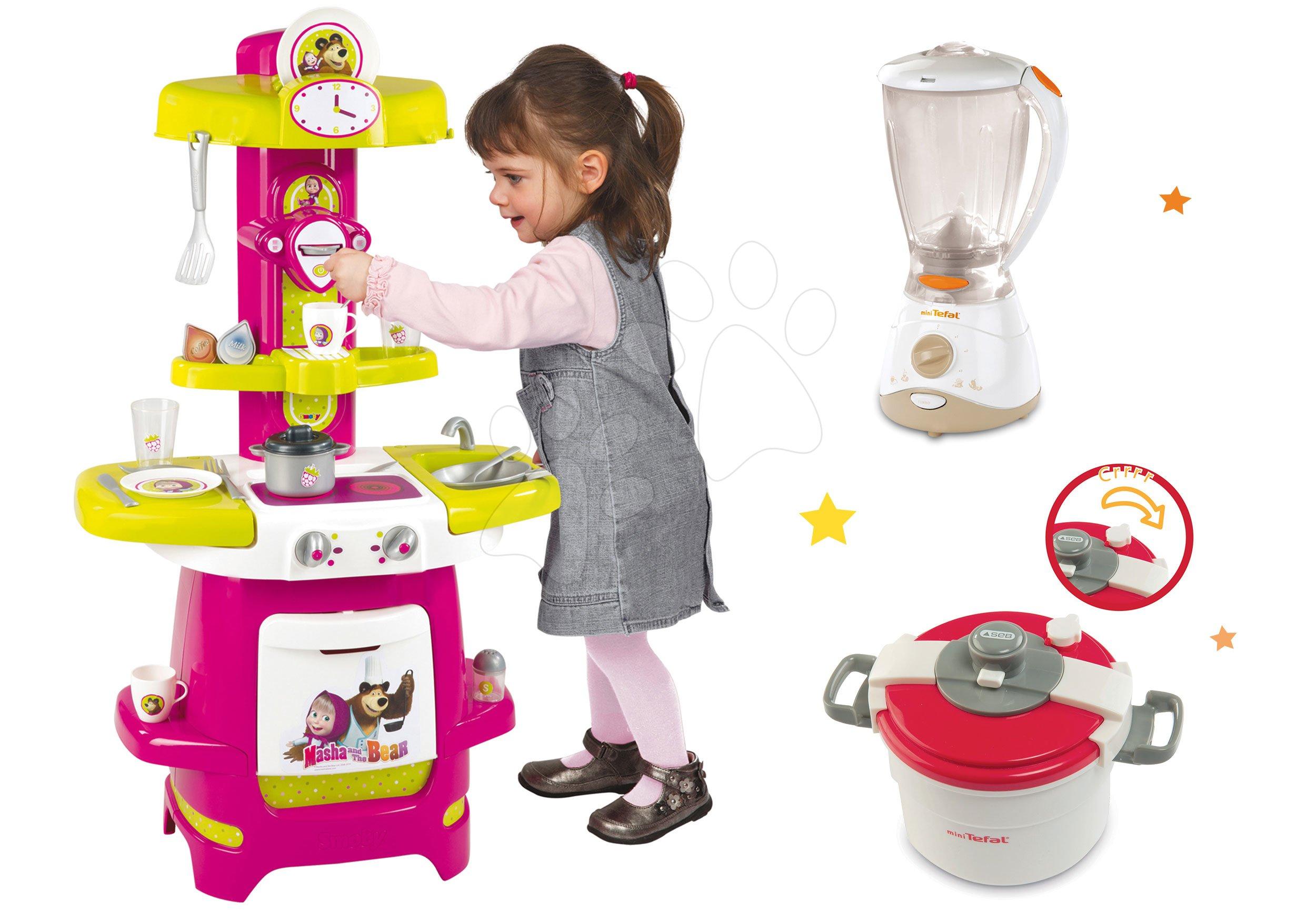 Smoby set kuchynka Cooky, mixér a tlakový hrniec Mini Tefal 310700-5