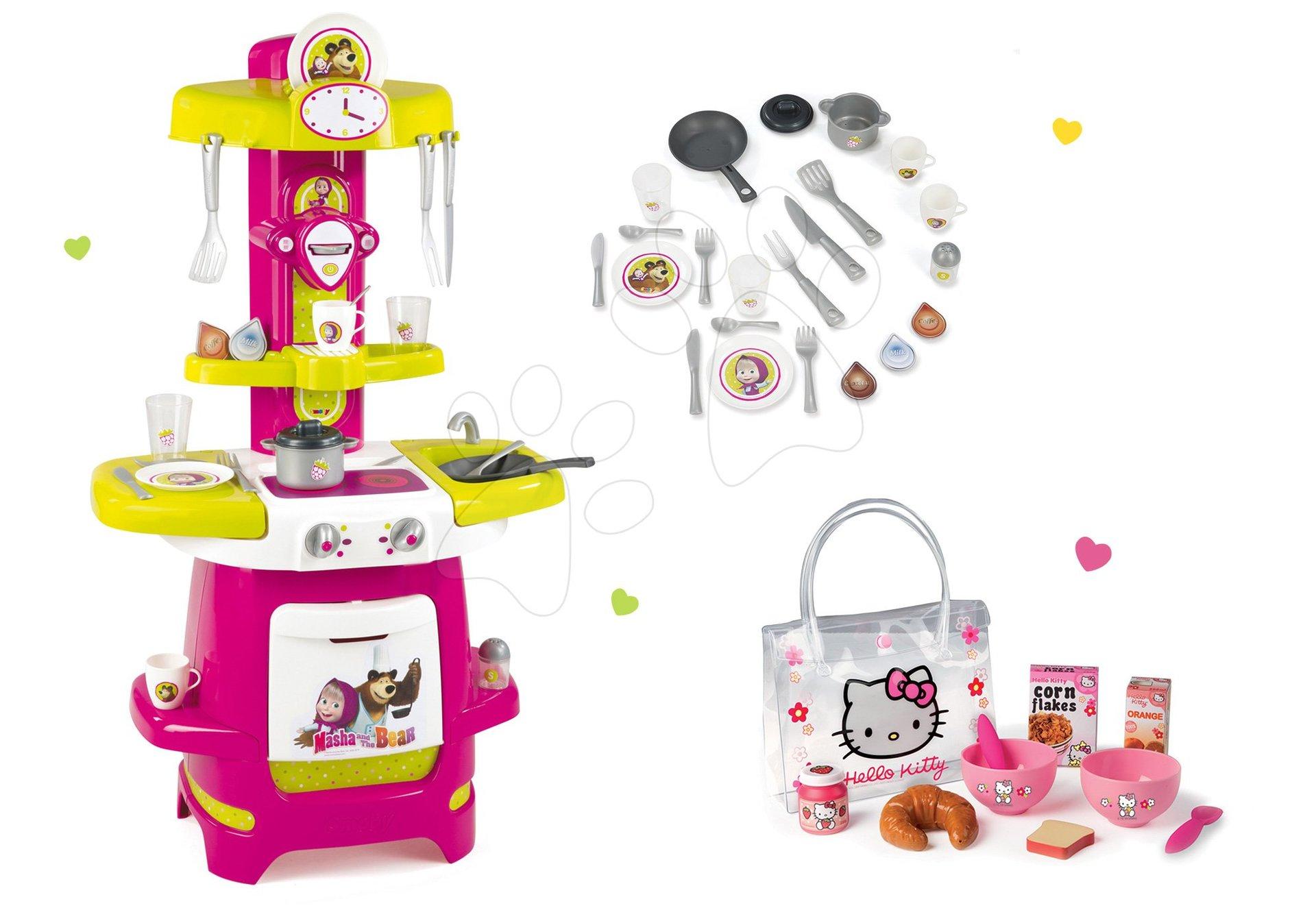 Smoby set kuchynka Cooky a raňajková sada Hello Kitty 310700-8