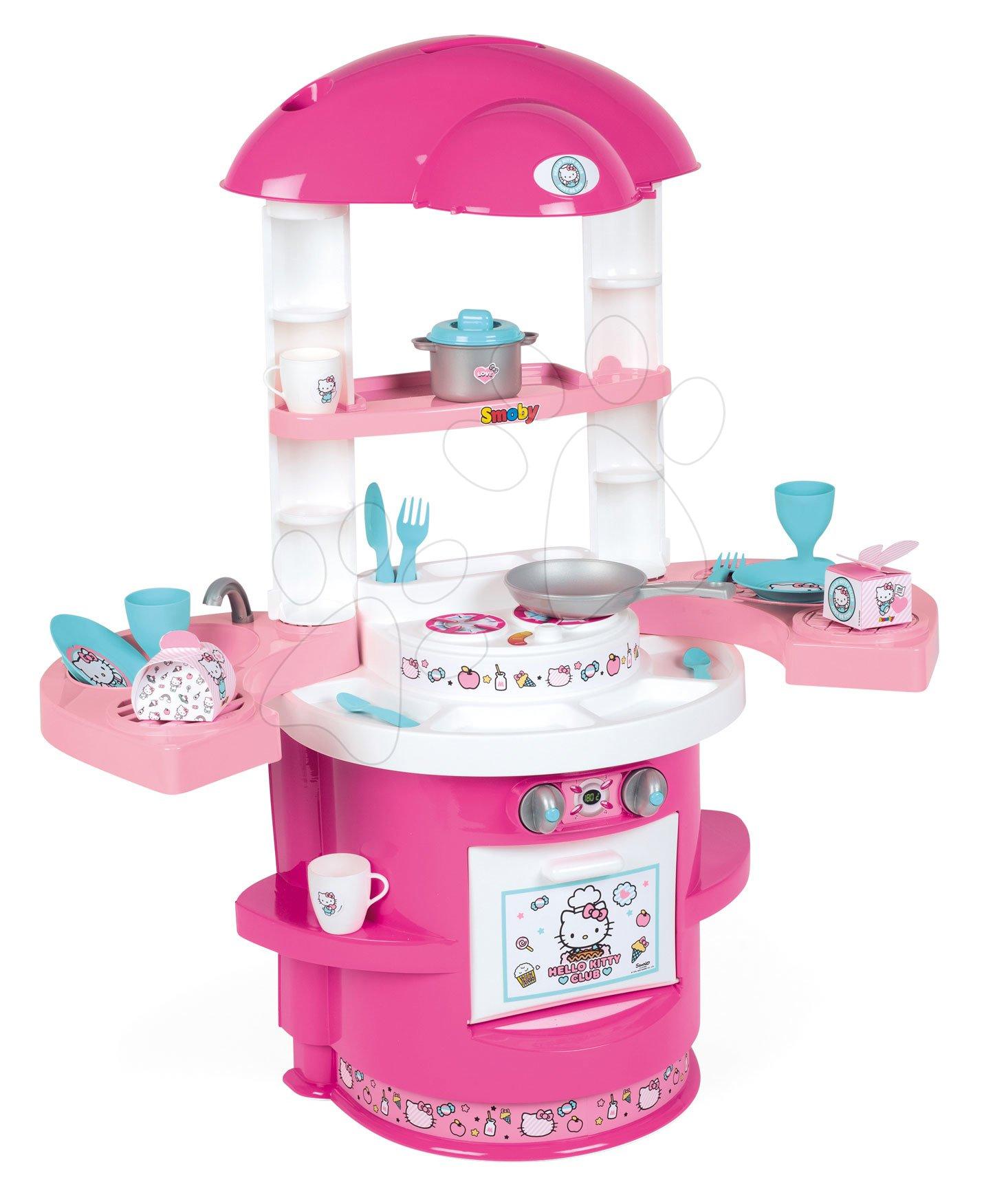 Kuchynka pre najmenších Hello Kitty Cooky Smoby so 17 doplnkami od 18 mes