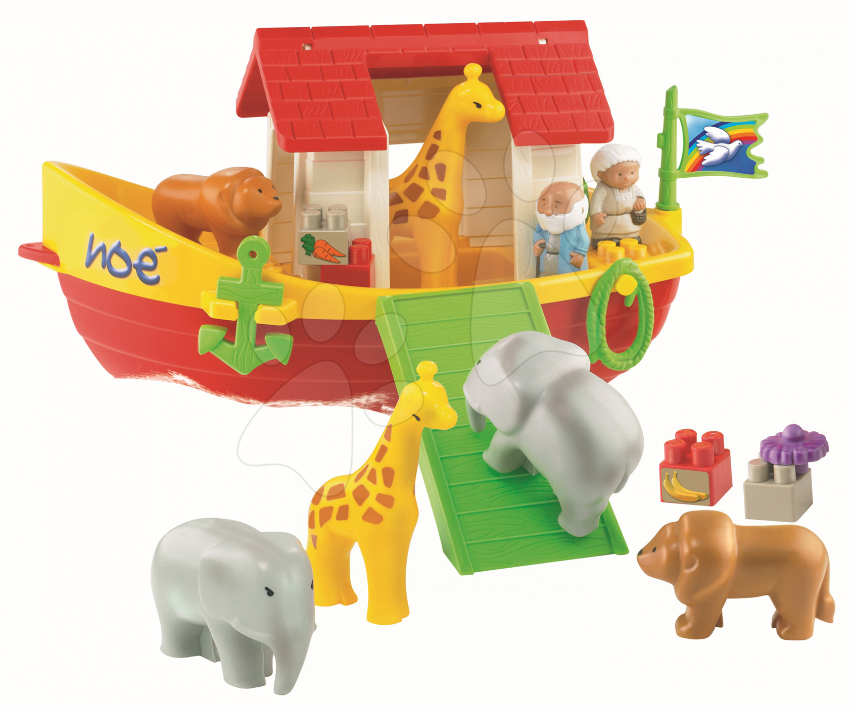 Cuburi de construit Abrick - Joc de construit Abrick - Arca lui Noe Écoiffier 23 de piese de la 18 luni