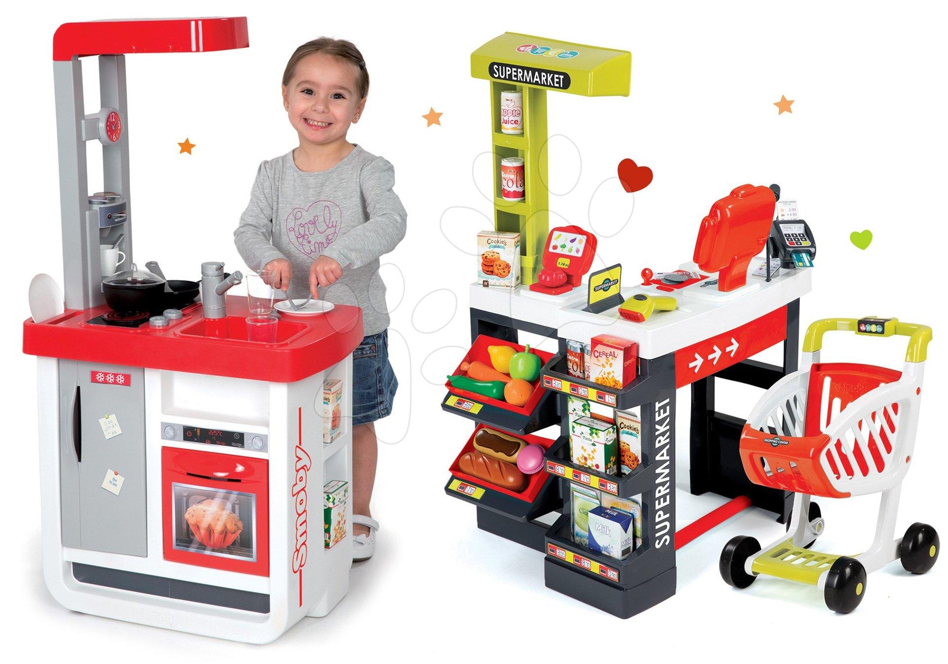 Smoby detská kuchynka Bon Appétit a obchod Supermarket 310800-2