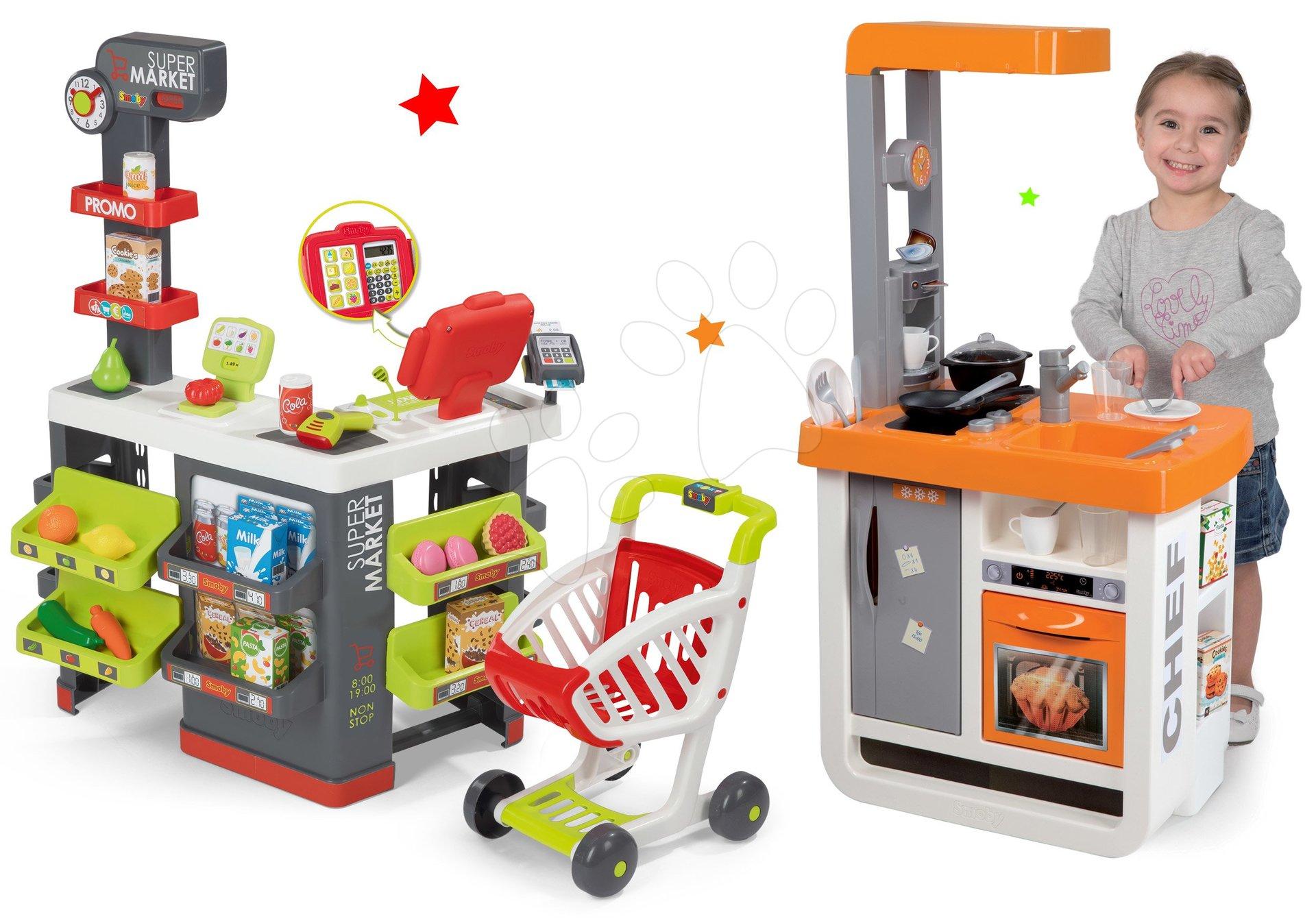Smoby dětská kuchyňka Bon Appétit Chef a obchod Supermarket 310803-3