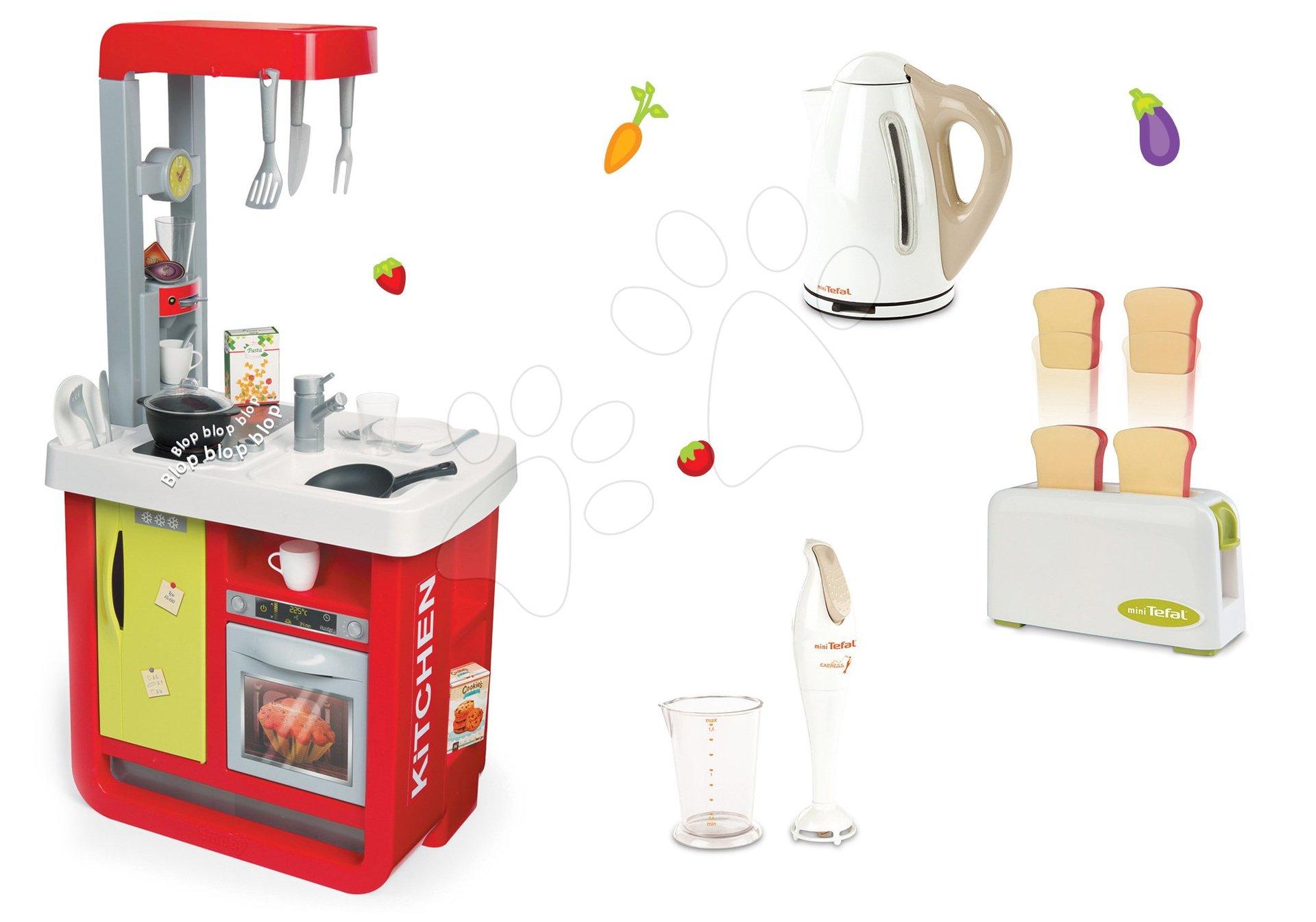 Set kuchyňka Cherry Special Smoby se zvuky a sada 3 kuchyňských spotřebičů