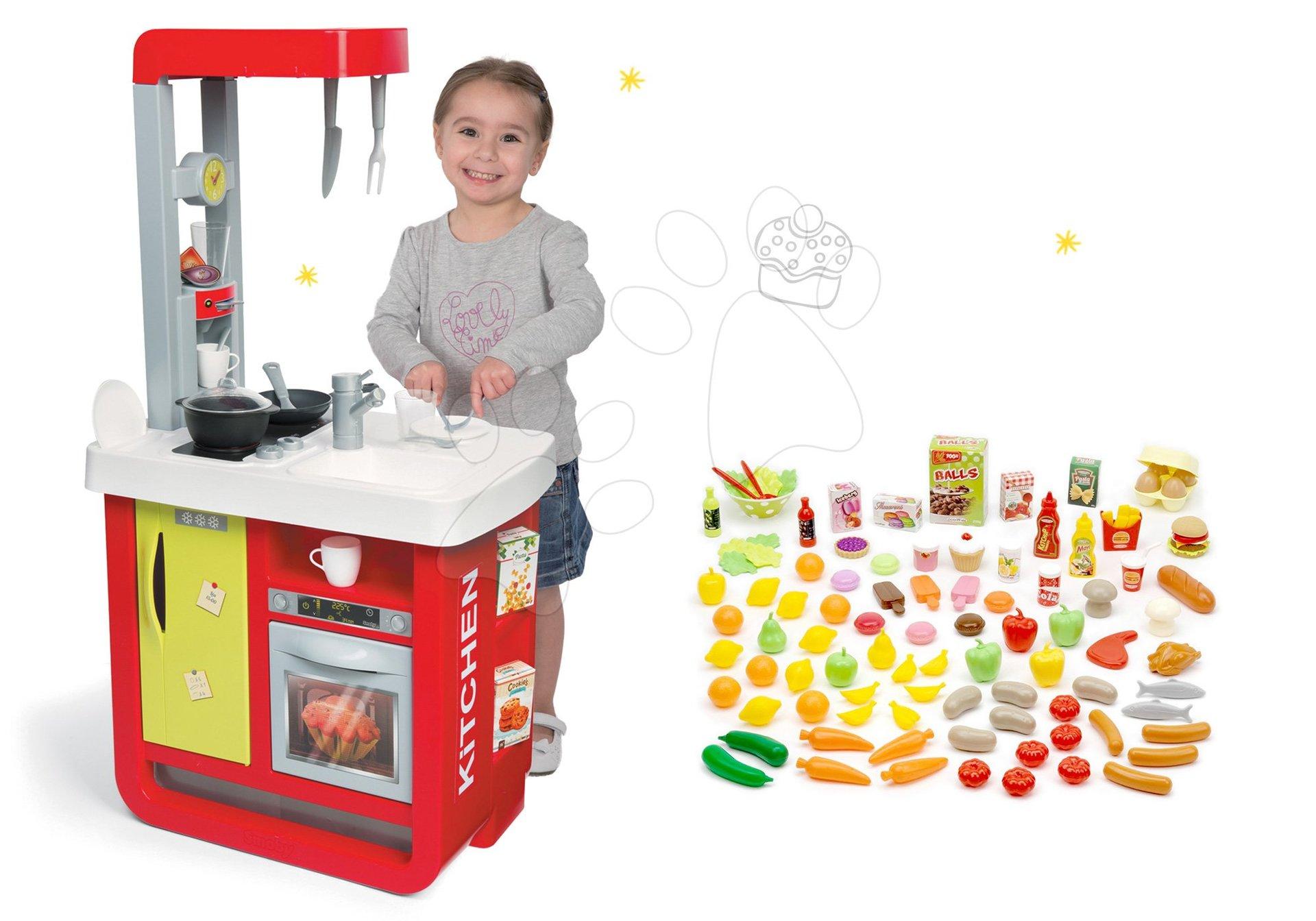 Smoby set kuchynka elektronická Bon Appetit a sada potravín 100 kusov 310810-5