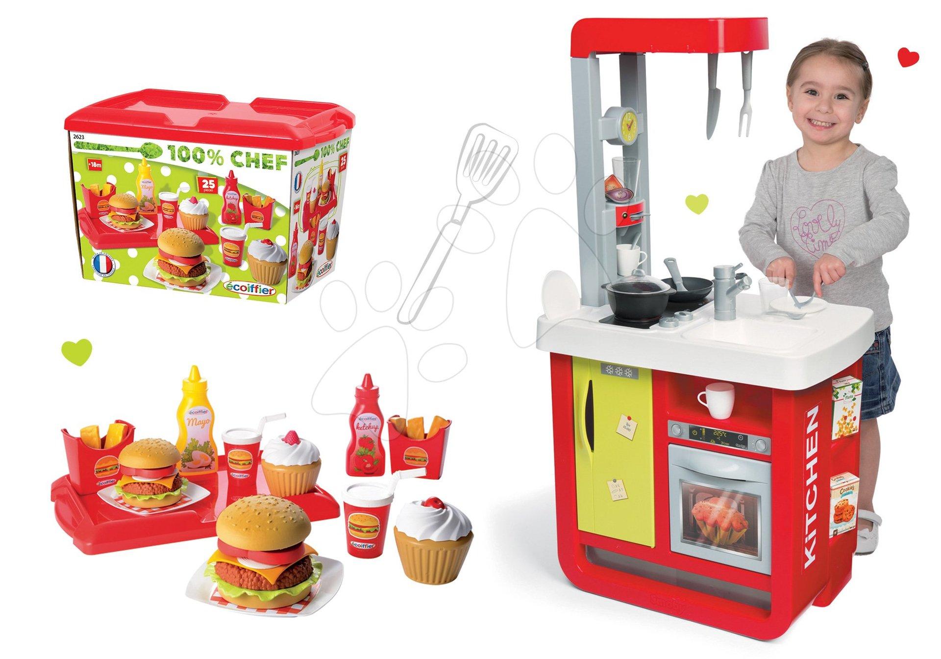 Smoby detská kuchynka Cherry Special a Écoiffier hamburgery 100% Chef 310810-7