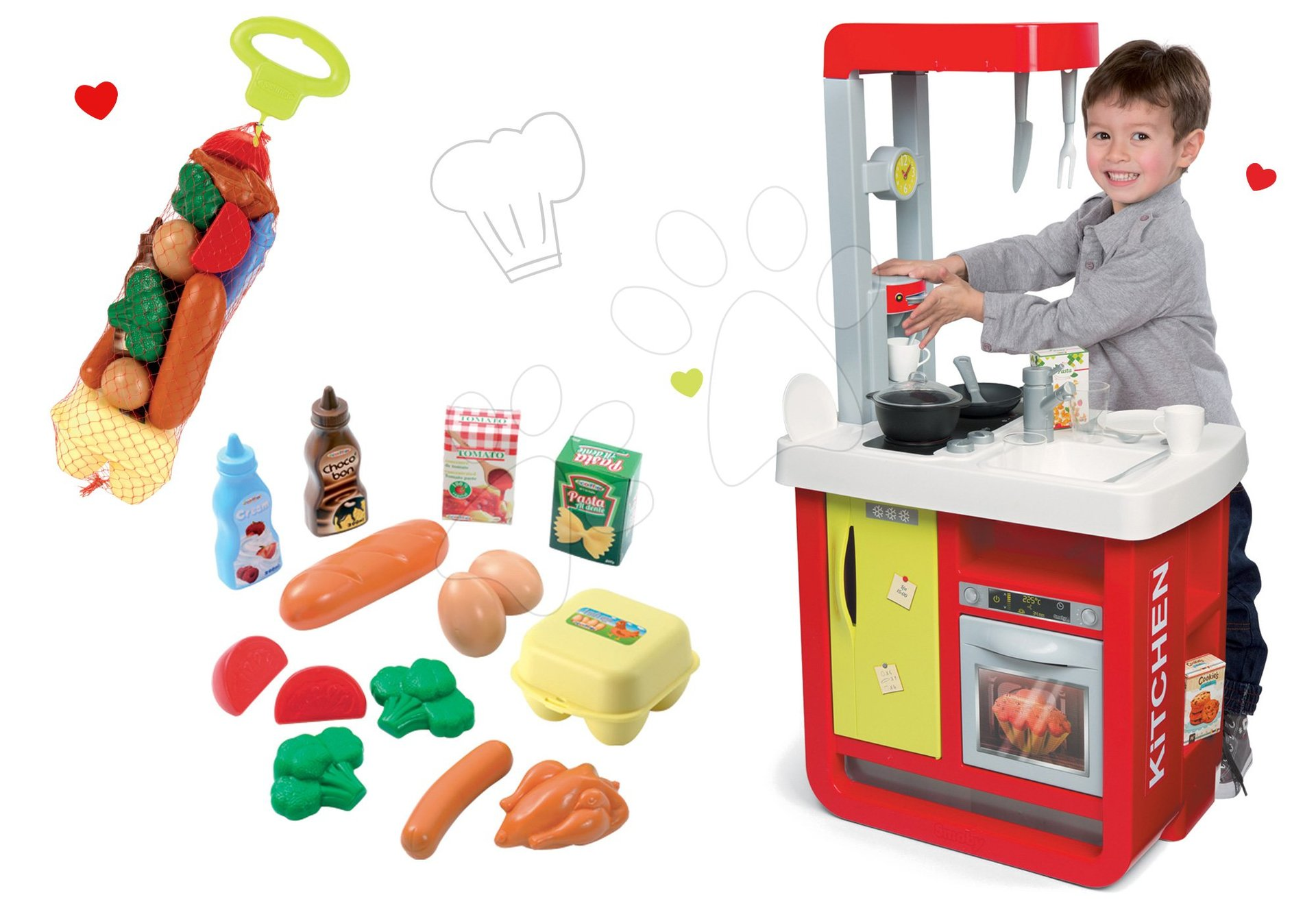 Smoby detská kuchynka Cherry Special a potraviny Écoiffier Bubble Cook 310810-8