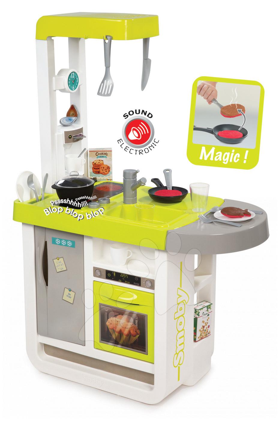 Elektronická detská kuchynka Cherry Smoby 310908 zeleno-šedá