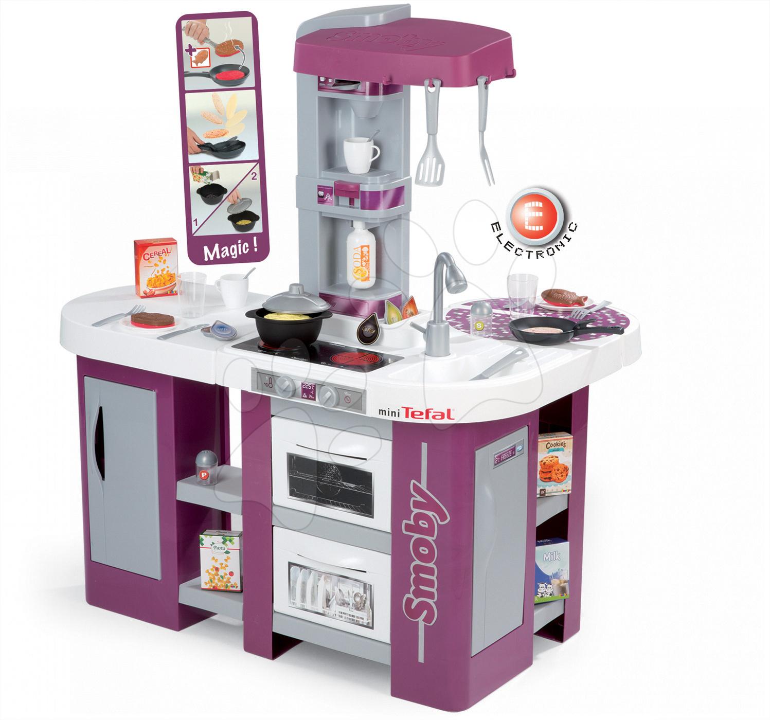 Smoby detská kuchynka Tefal Studio XL 311005 fialovo-šedá
