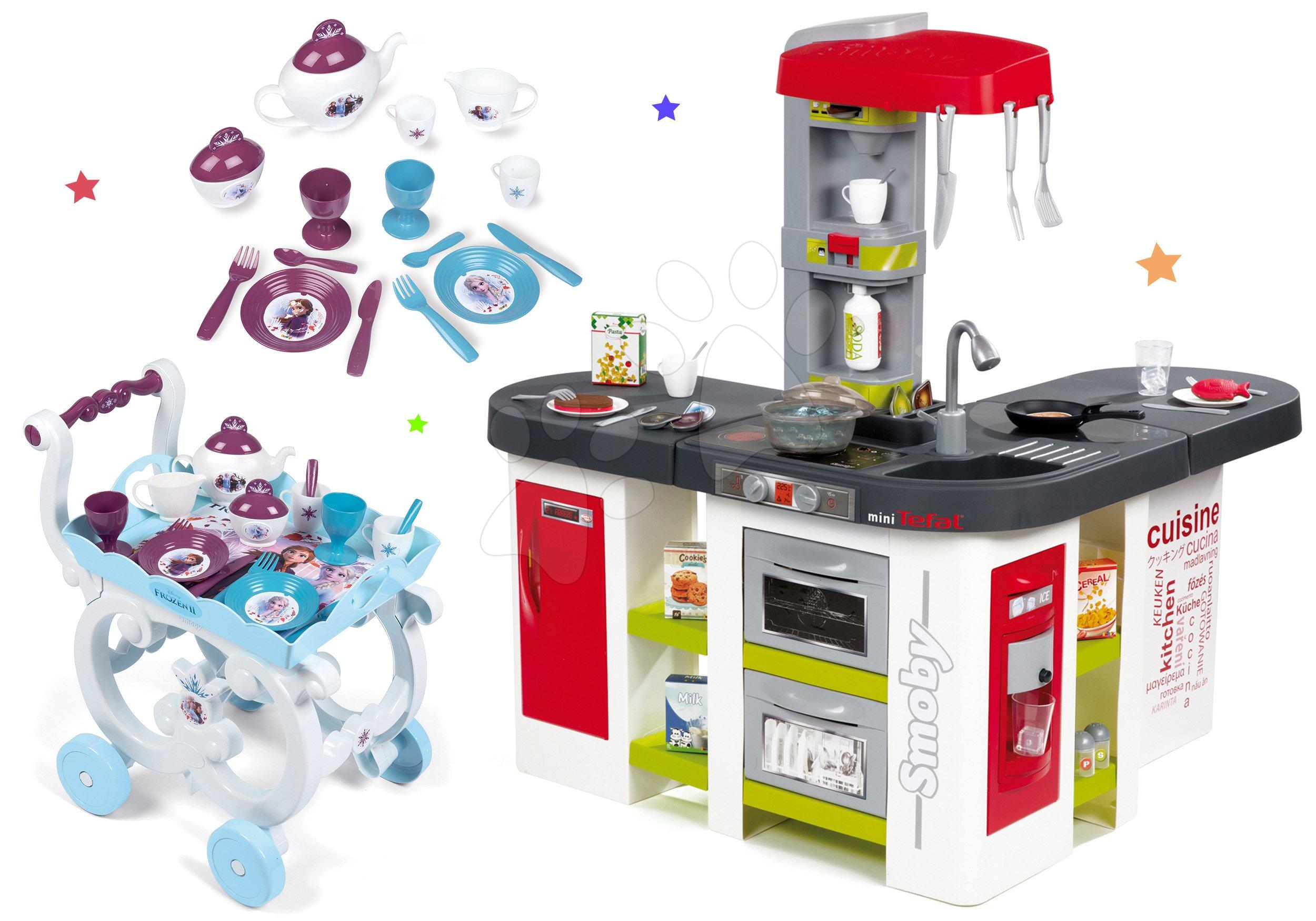 Smoby set detská kuchynka Tefal Studio XXL a servírovací vozík Frozen 311018-20