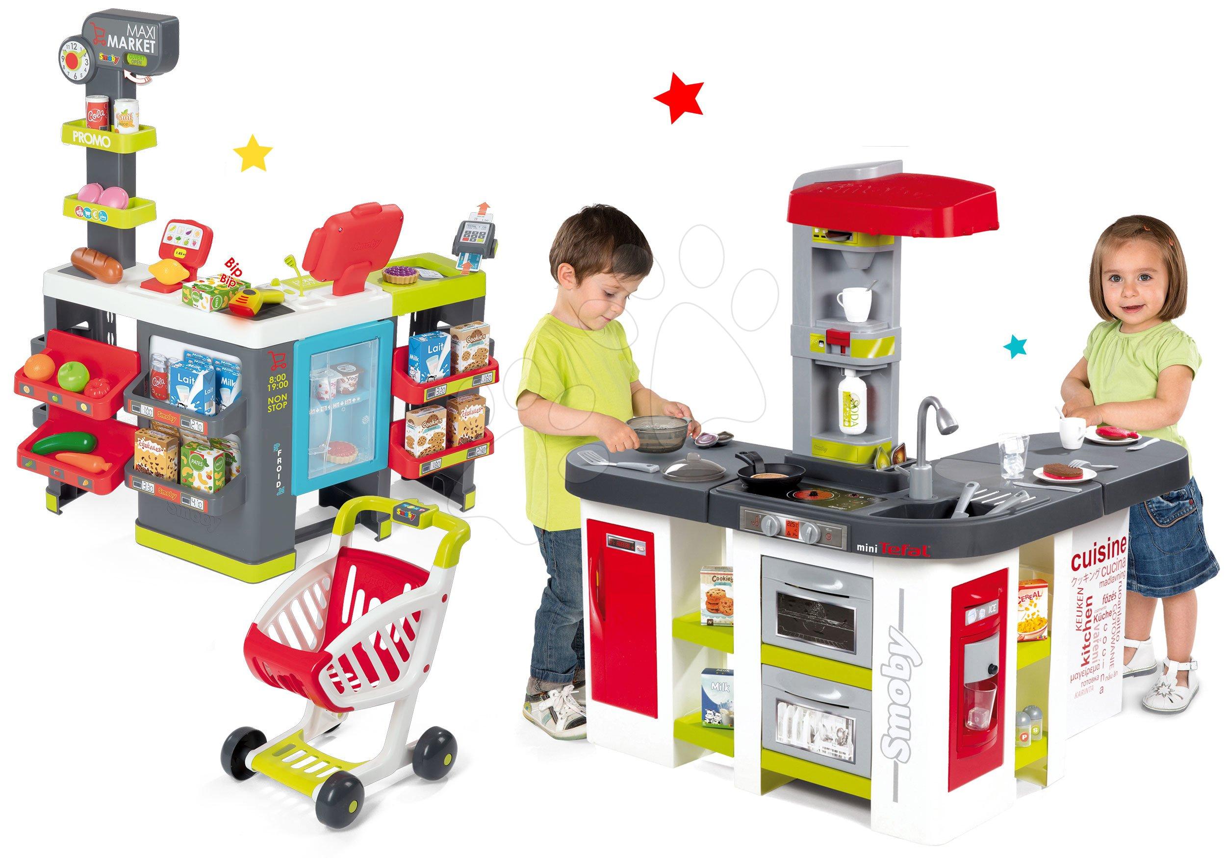 Smoby velká kuchyňka Tefal Studio XXL se zvukem a obchod s pokladnou 311018-5