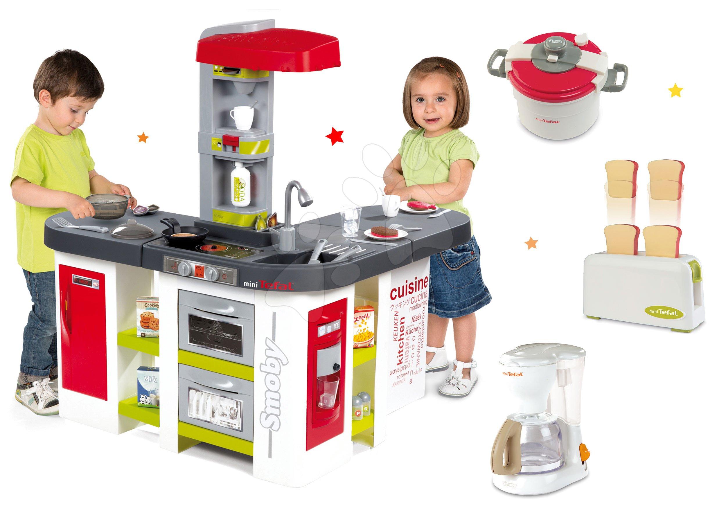 Smoby detská elektronická kuchynka Teal Studio XXL a kuchynské spotrebiče Tefal 311018-6