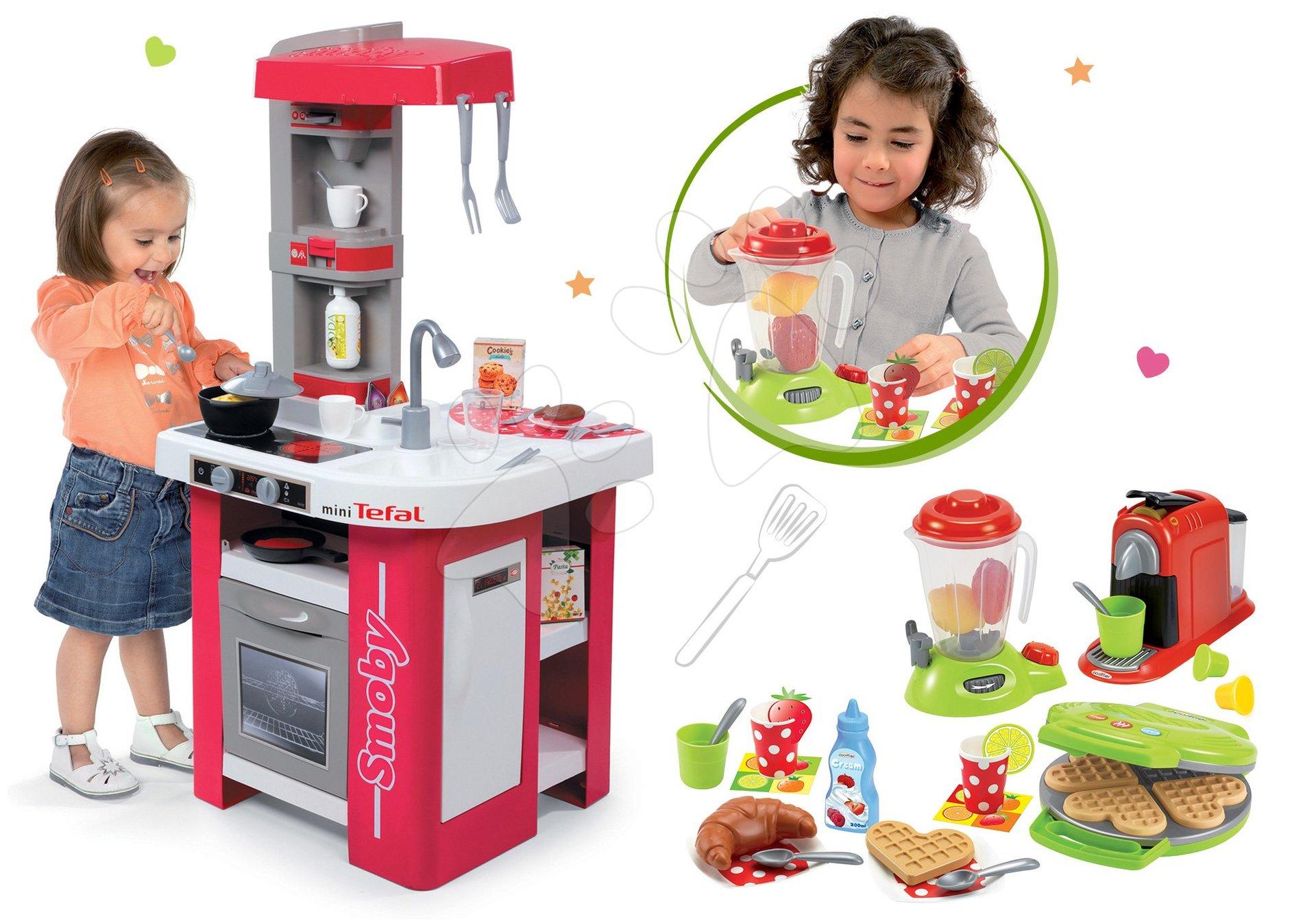Smoby set detská kuchynka Tefal studio elektronická, vaflovač s doplnkami 311022-3
