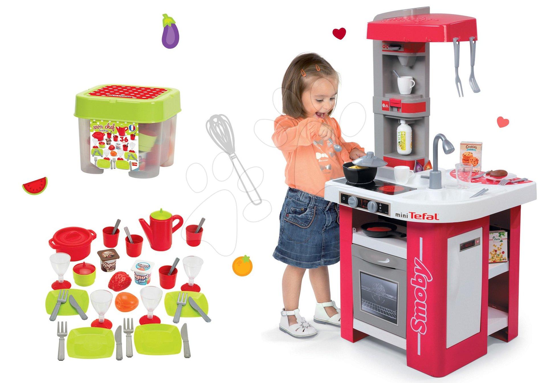 Set Smoby detská kuchynka Tefal Studio a obedová súprava s doplnkami 311022-5