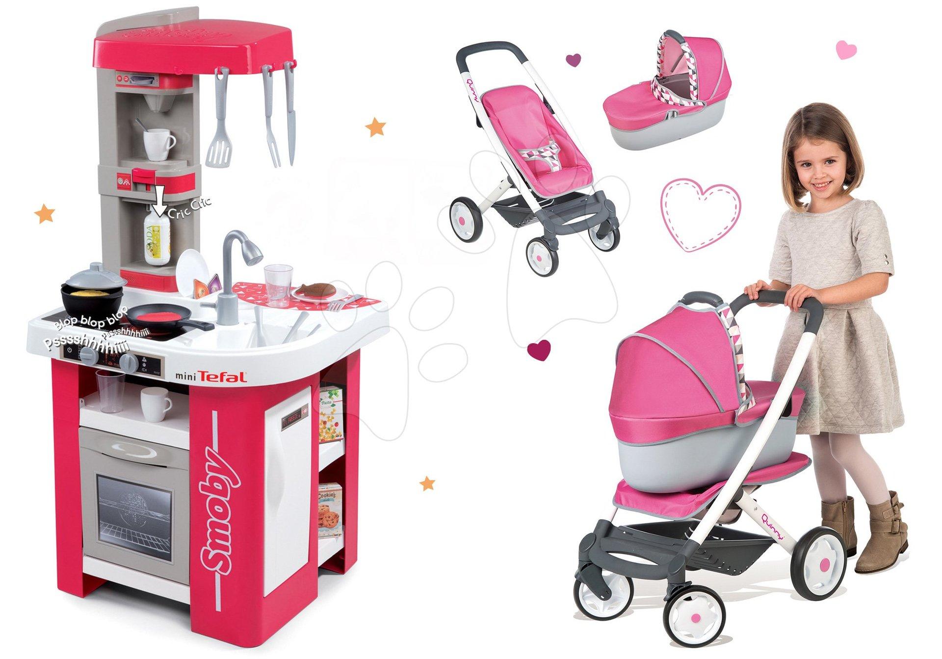 Smoby set detská kuchynka Tefal Studio a kočík Maxi Cosi&Quinny 311022-7