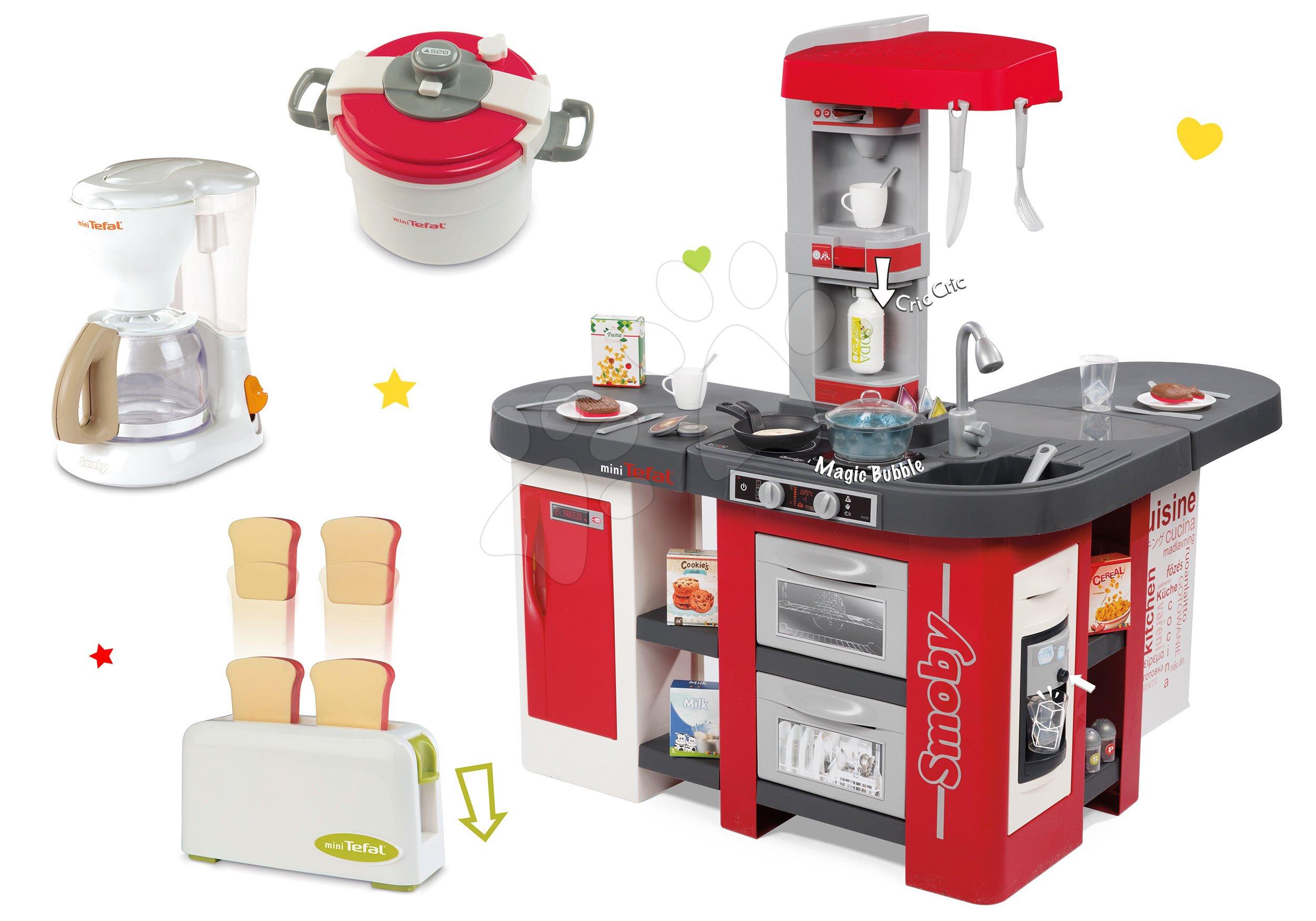 Set kuchyňka Tefal Studio XXL Smoby s magickým bubláním a 3 kuchyňské spotřebiče