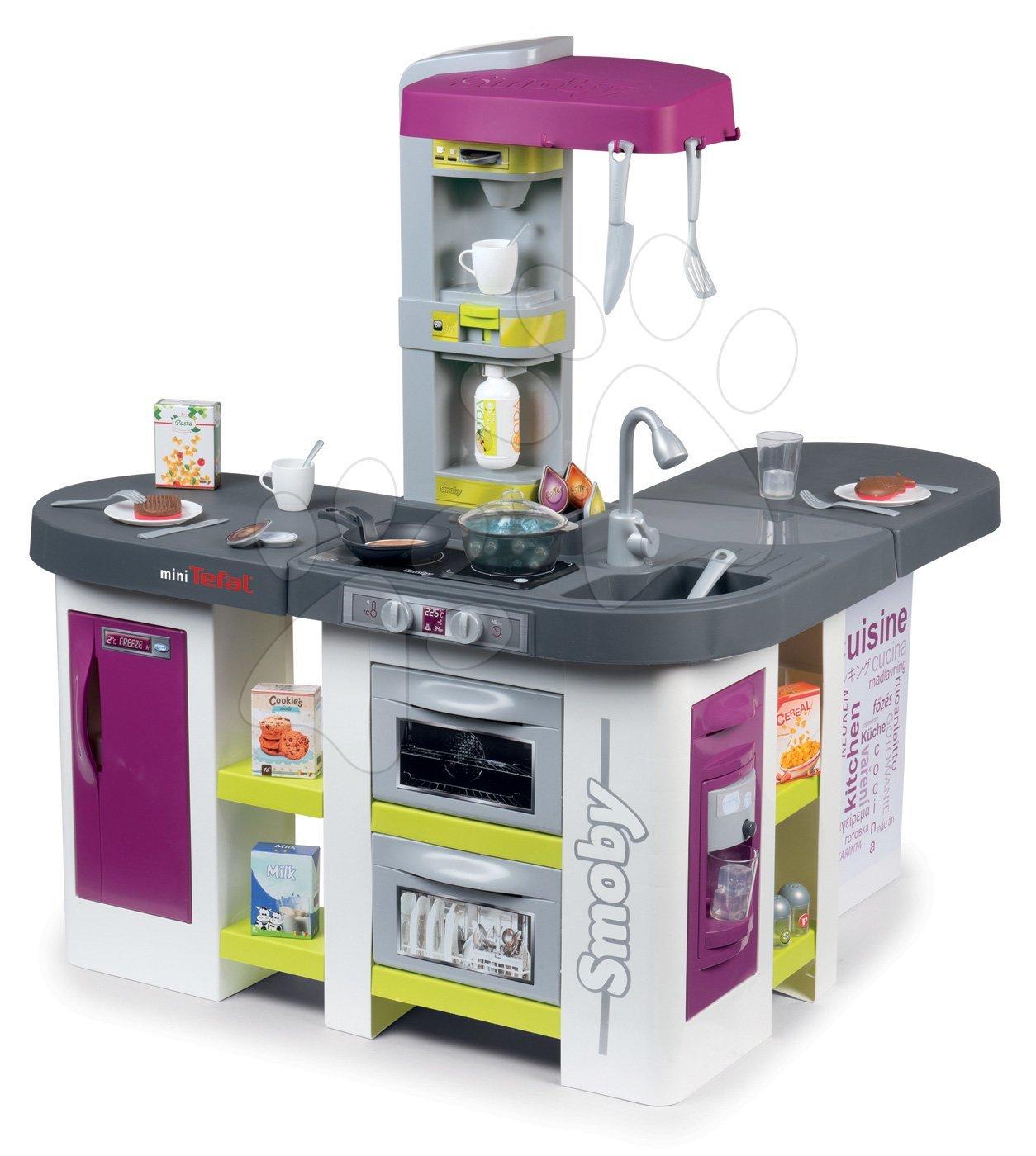 Smoby kuchynka elektronická Tefal Studio XXL Bubble s magickým bublaním, sódovačom, ľadom a 38 doplnkov 311033