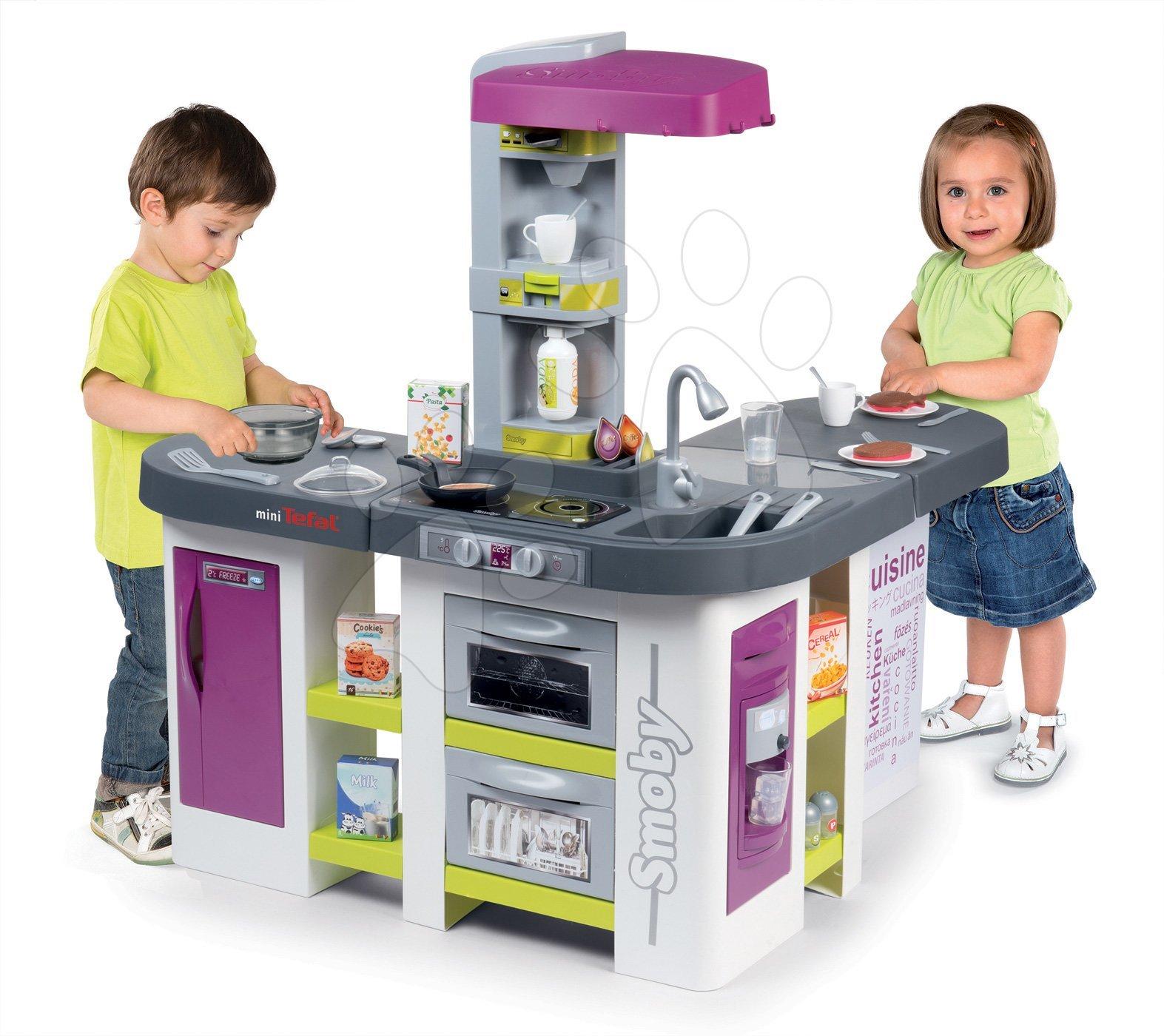 Kuchyňka elektronická Tefal Studio XXL Bubble Smoby s magickým bubláním, přístrojem na sodu a ledem a 38 doplňků