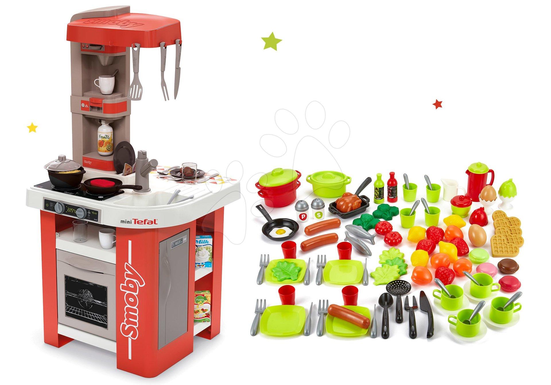Set kuchyňka elektronická Tefal Studio 360° Smoby a doplňky na vaření do kuchyňky 100% Chef
