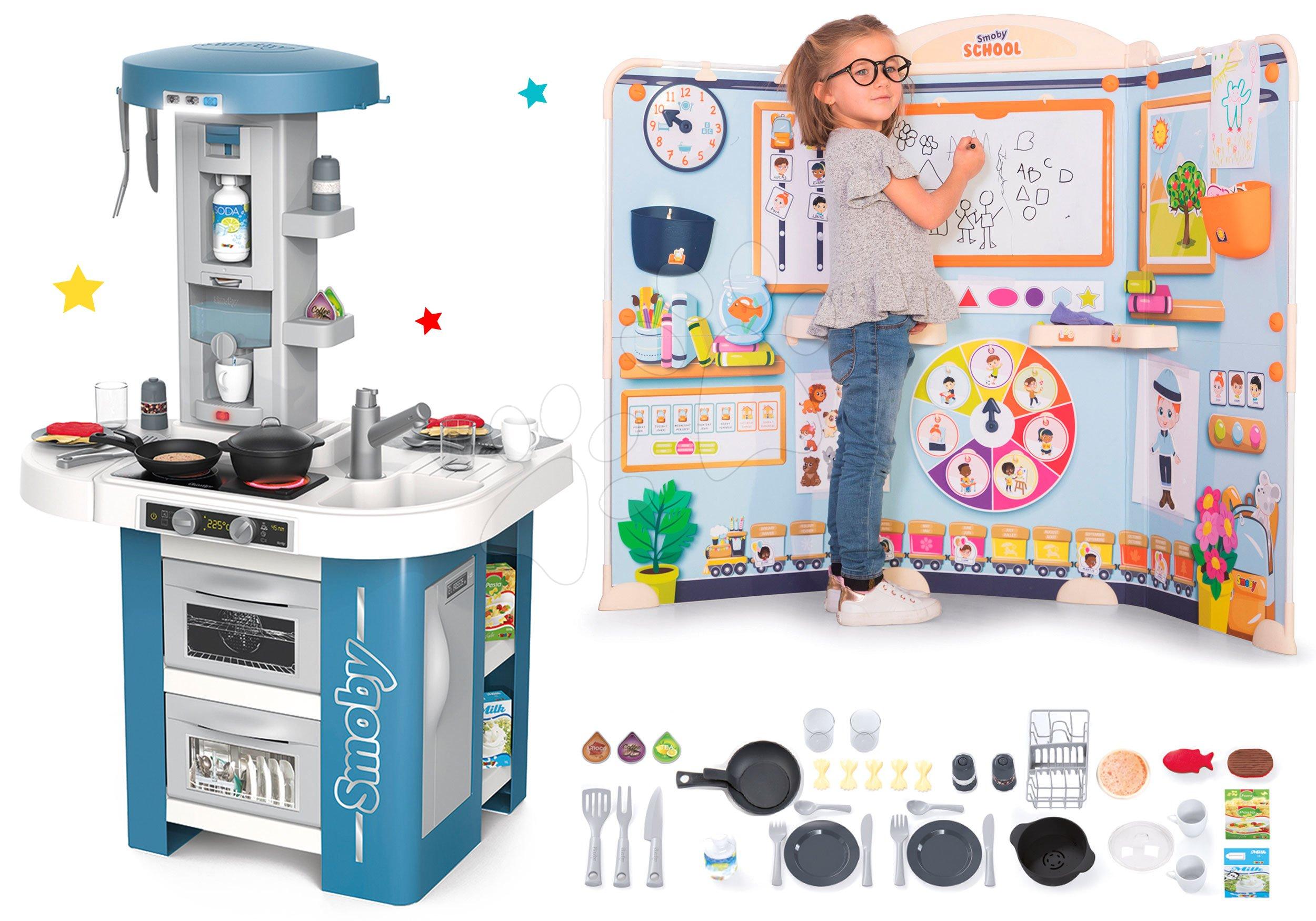Set kuchynka s technickým vybavením Tech Edition Smoby elektronická so školou pre škôlkárov Hra na učiteľa a žiaka