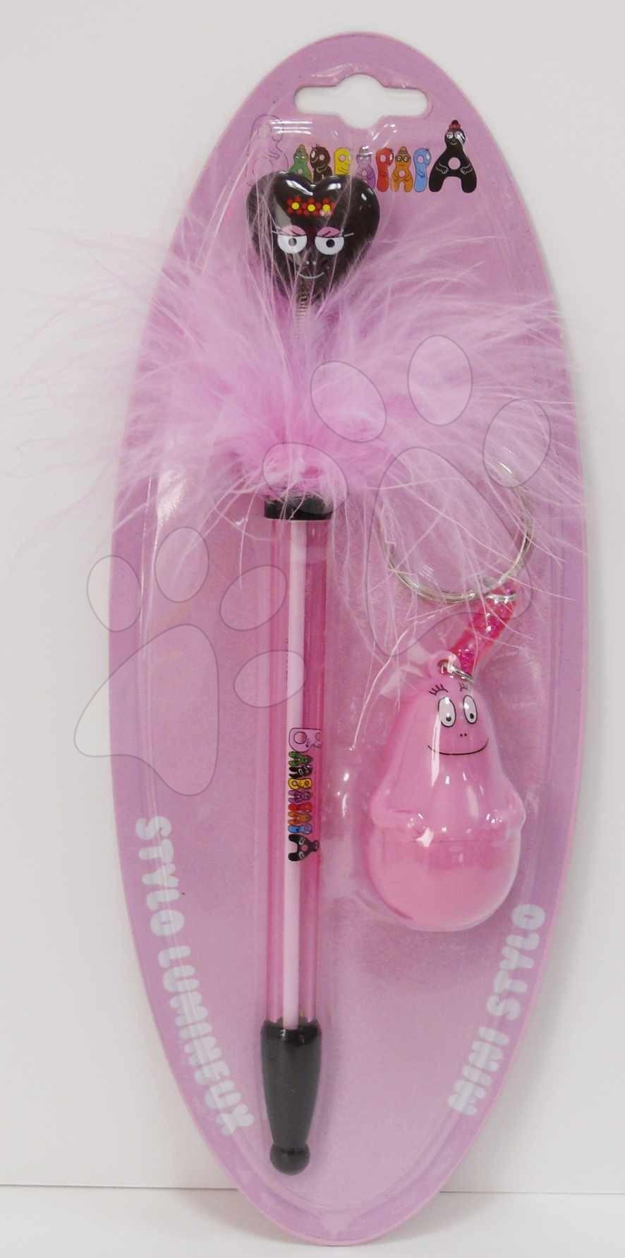 Sada kľúčenka a pero Barbapapa srdiečko CTC ružová