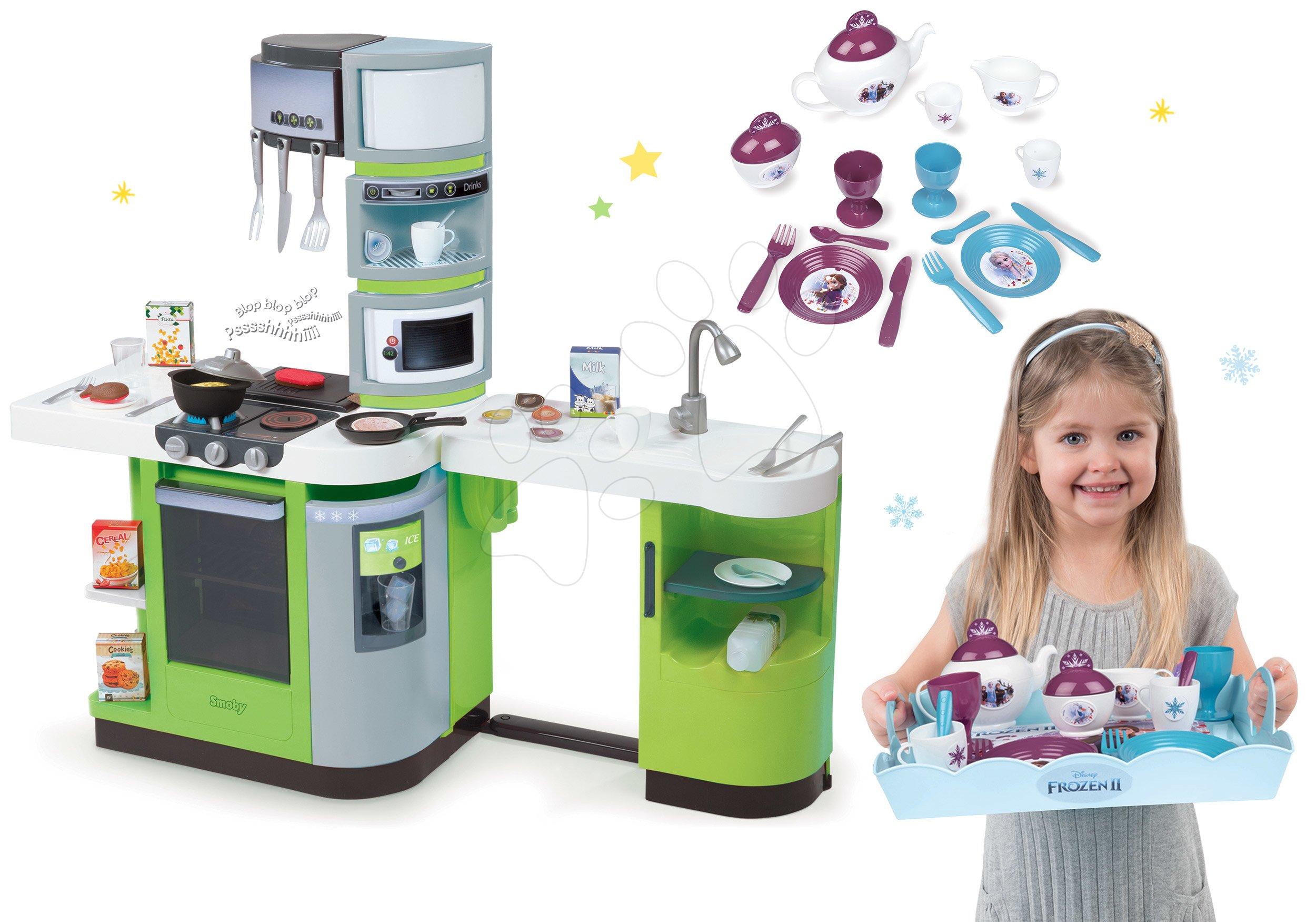 Smoby kuchynka CookMaster Verte a servírovacia tácka Frozen 311102-7