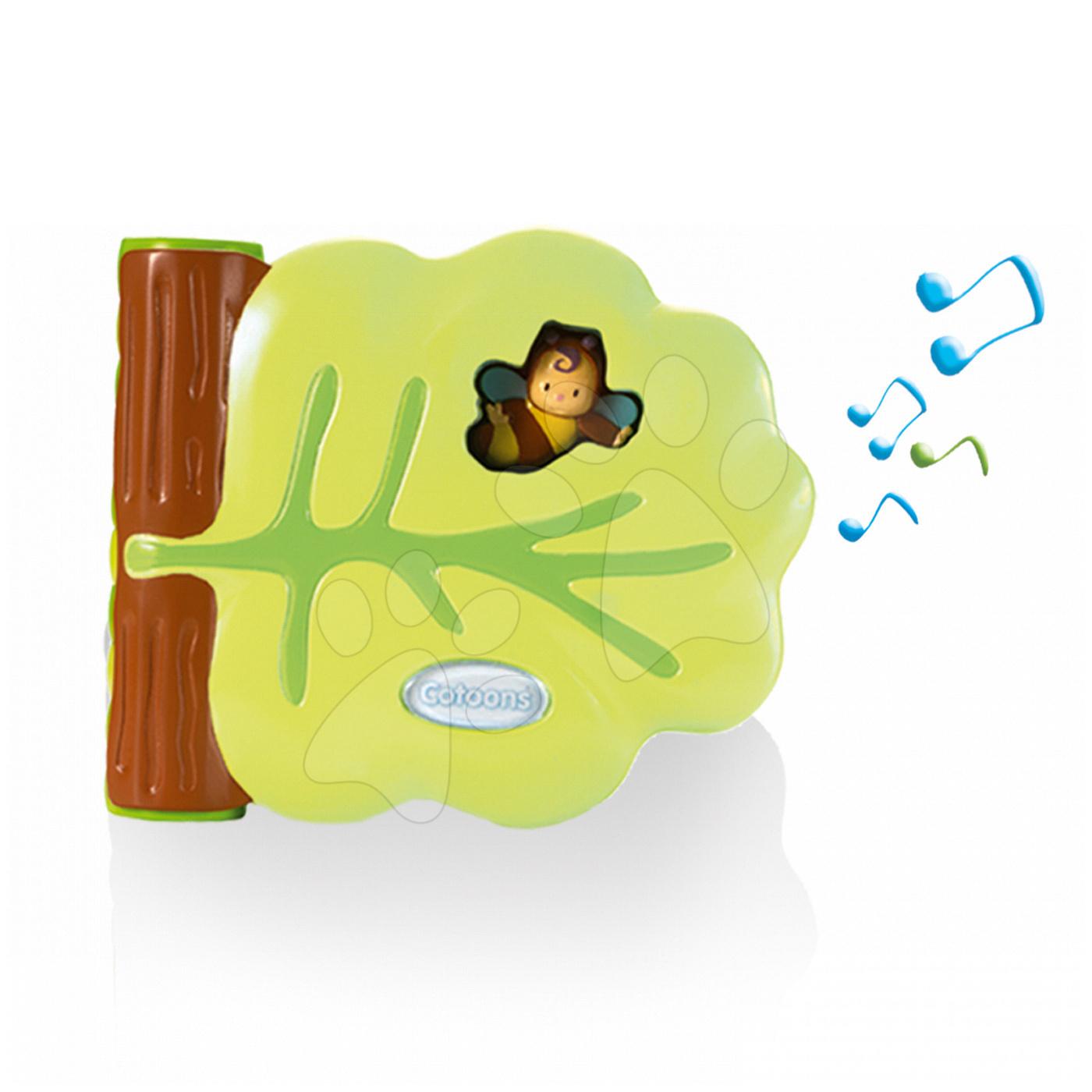Zenélő bébijátékok - Zenélő könyvecske Cotoons Smoby kinyitható és 12 dallammal 10 hó-tól