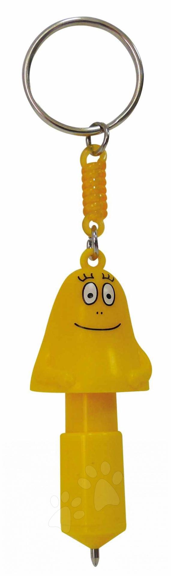 Ruční práce a tvoření - Pero a klíčenka Barbapapa Hasbro mini žluté