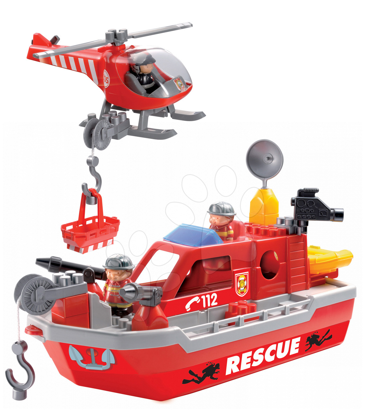 Stavebnice Abrick - Stavebnica Abrick - záchranárska loď Écoiffier 37 dielov od 18 mes