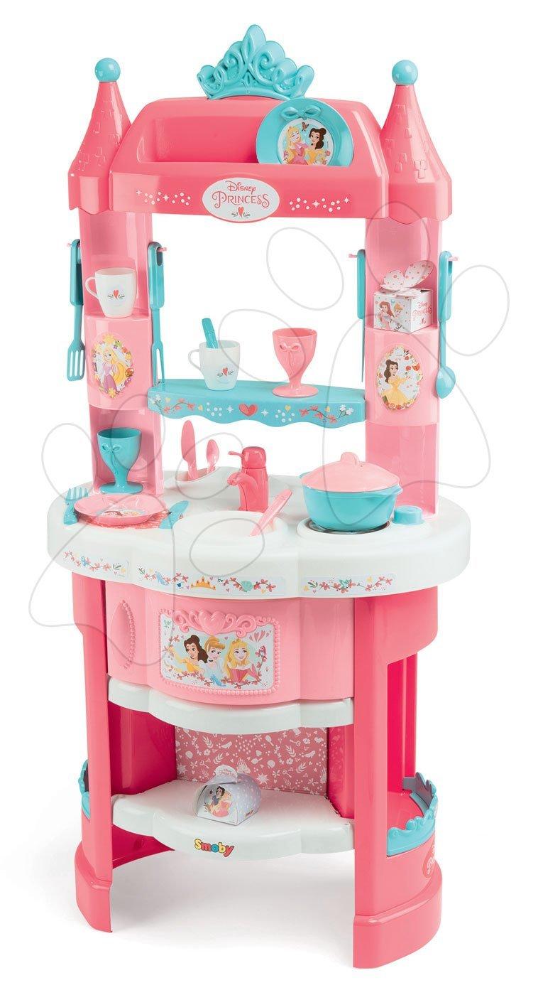 Kuchynka s vežičkami Princezné Smoby 19 doplnkov obojstranná