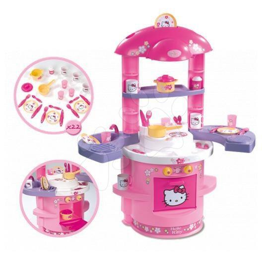 Bucătărie Hello Kitty Ma Premier Smoby cu aripi care se pot lăsa