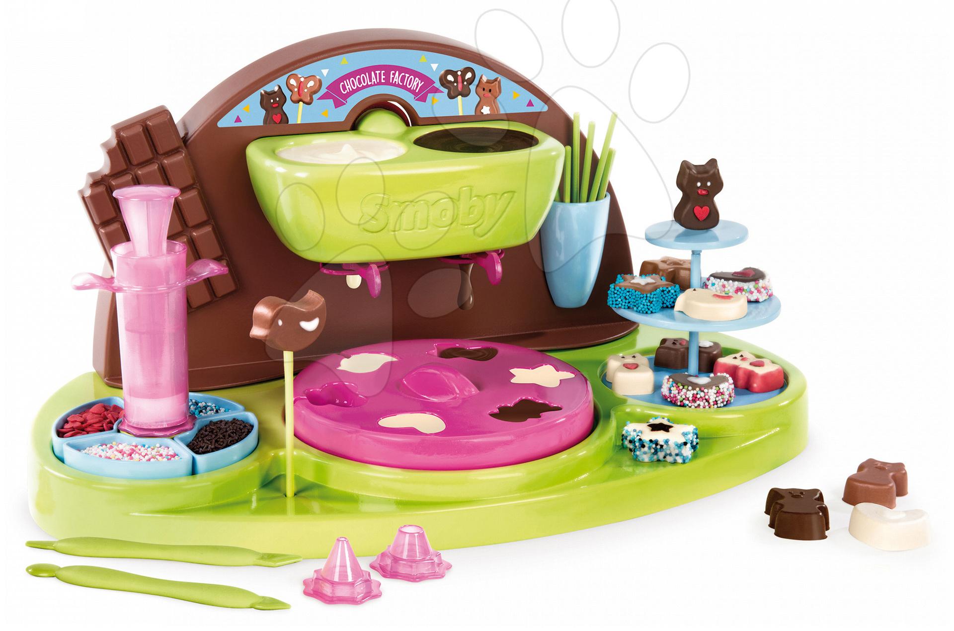 Smoby prístroj pre deti na výrobu čokoládových cukríkov 312102 zeleno-hnedý