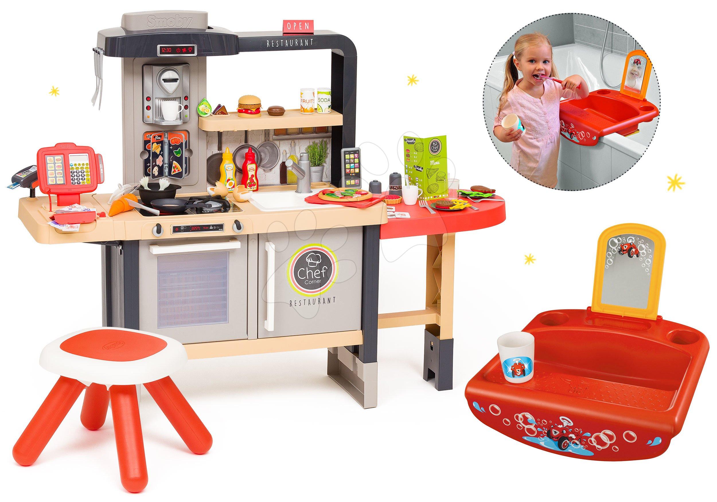 Set reštaurácia s elektronickou kuchynkou Chef Corner Restaurant Smoby s umývadlom od 18 mes do 5 rokov ako Darček