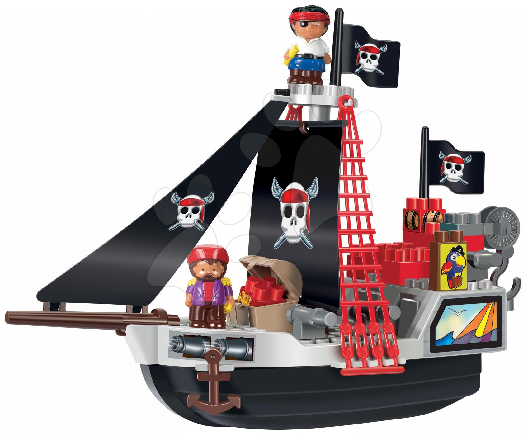 Stavebnice Pirátská loď s pokladem Abrick Écoiffier 29 dílků od 18 měsíců