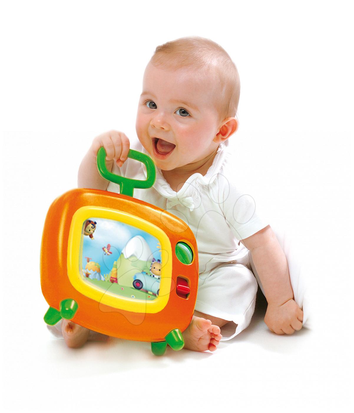 Igrače z zvoki - Televizija Cotoons Smoby z glasbo za dojenčke zeleno-oranžna od 6 mes