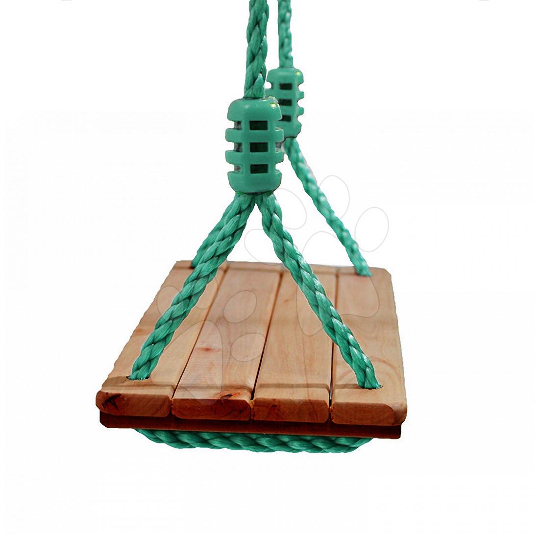 Klasická dřevěná houpačka z desek a lana Smoby Maxi výška 220 cm od 24 měsíců