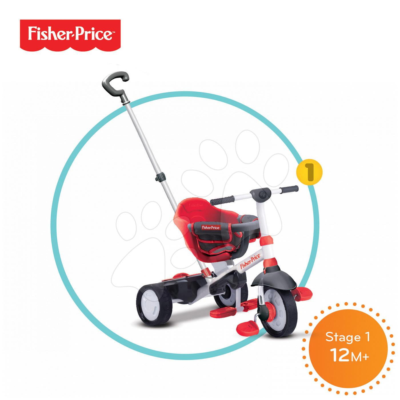 Trojkolky od 10 mesiacov - Trojkolka Fisher-Price Charm Touch Steering smarTrike červená od 10 mes