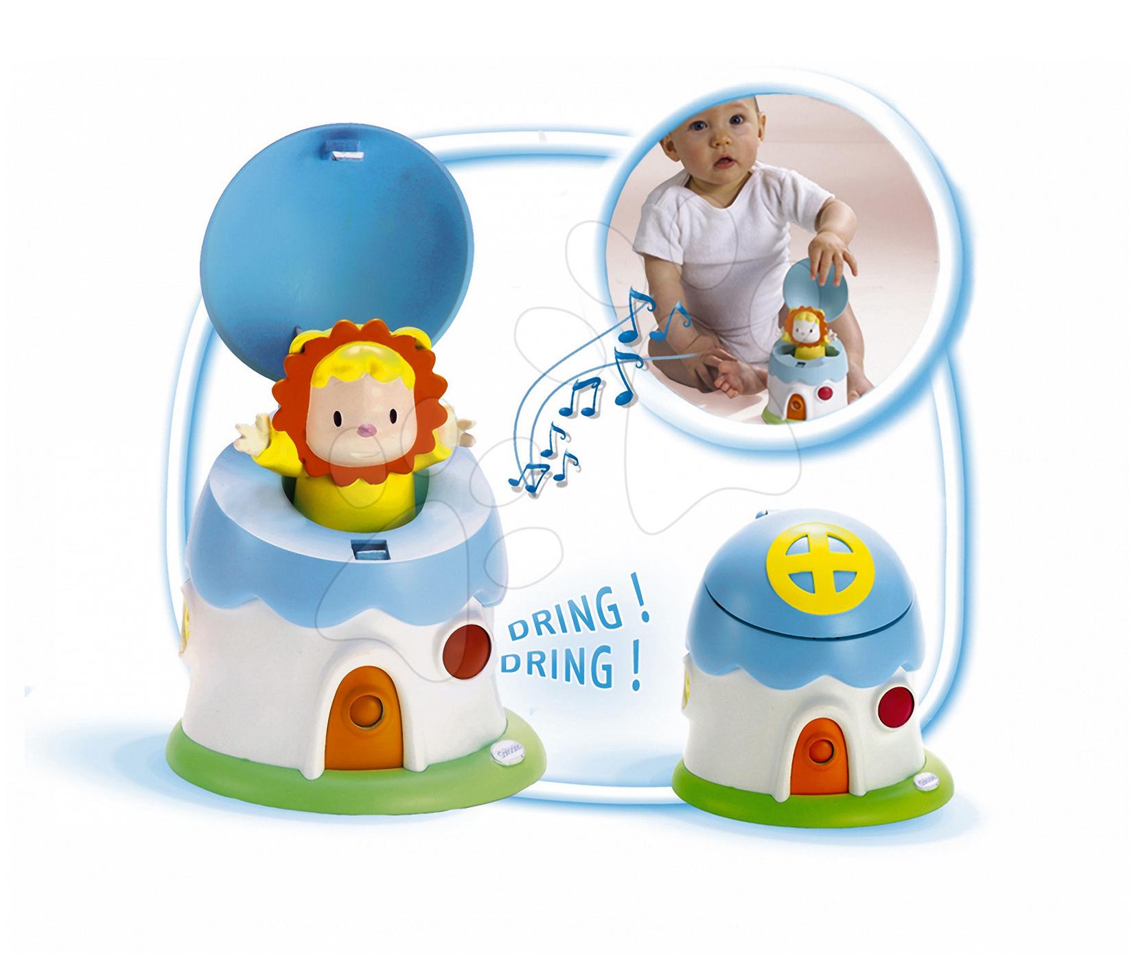 Hračky zvukové - Domek s překvapením Cotoons Smoby se zvuky pro kojence modro-bílý od 6 měsíců