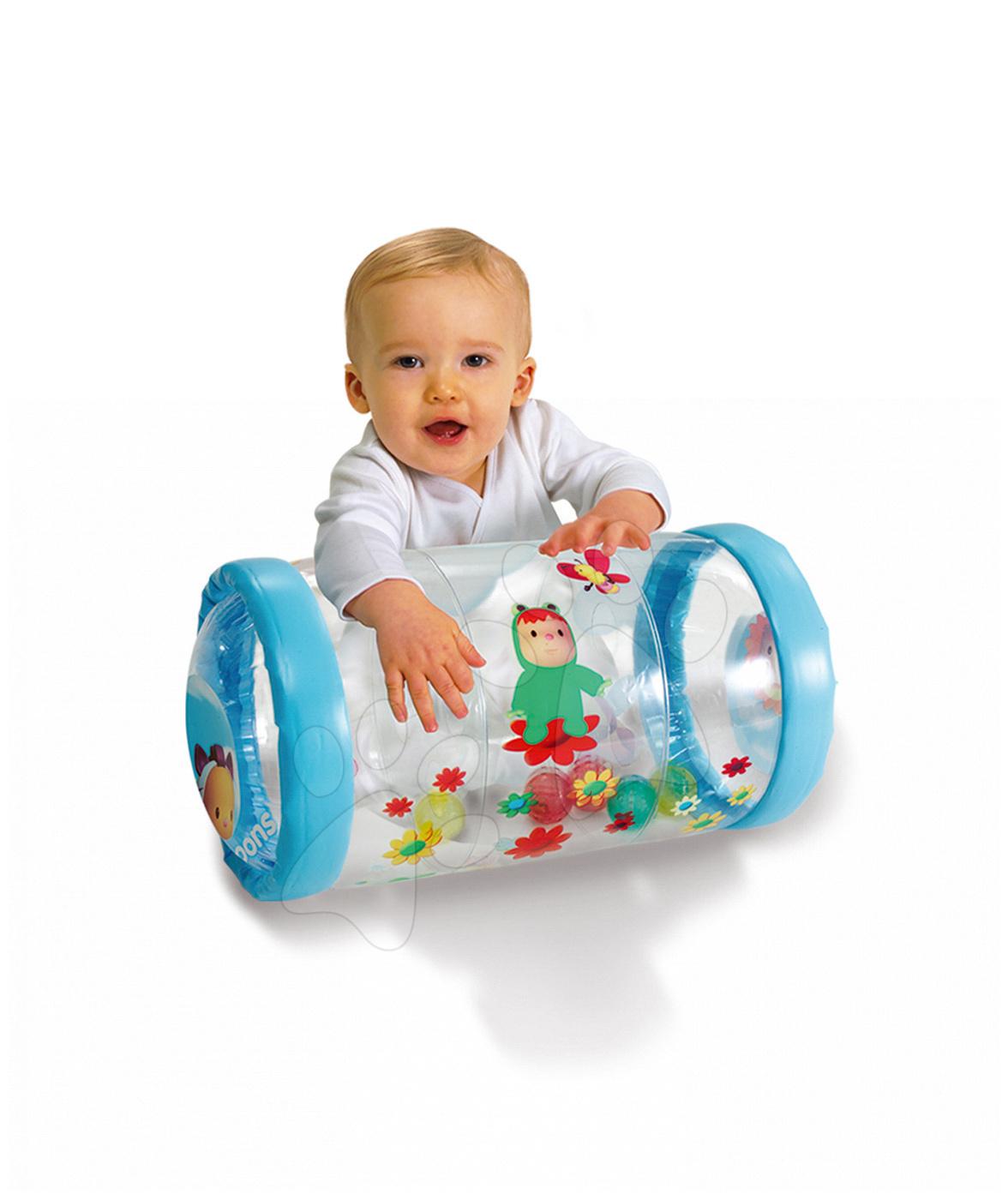 Premergătoare - Cilindru bebe Baby Roul Cotoons Smoby albastru de la 12 luni