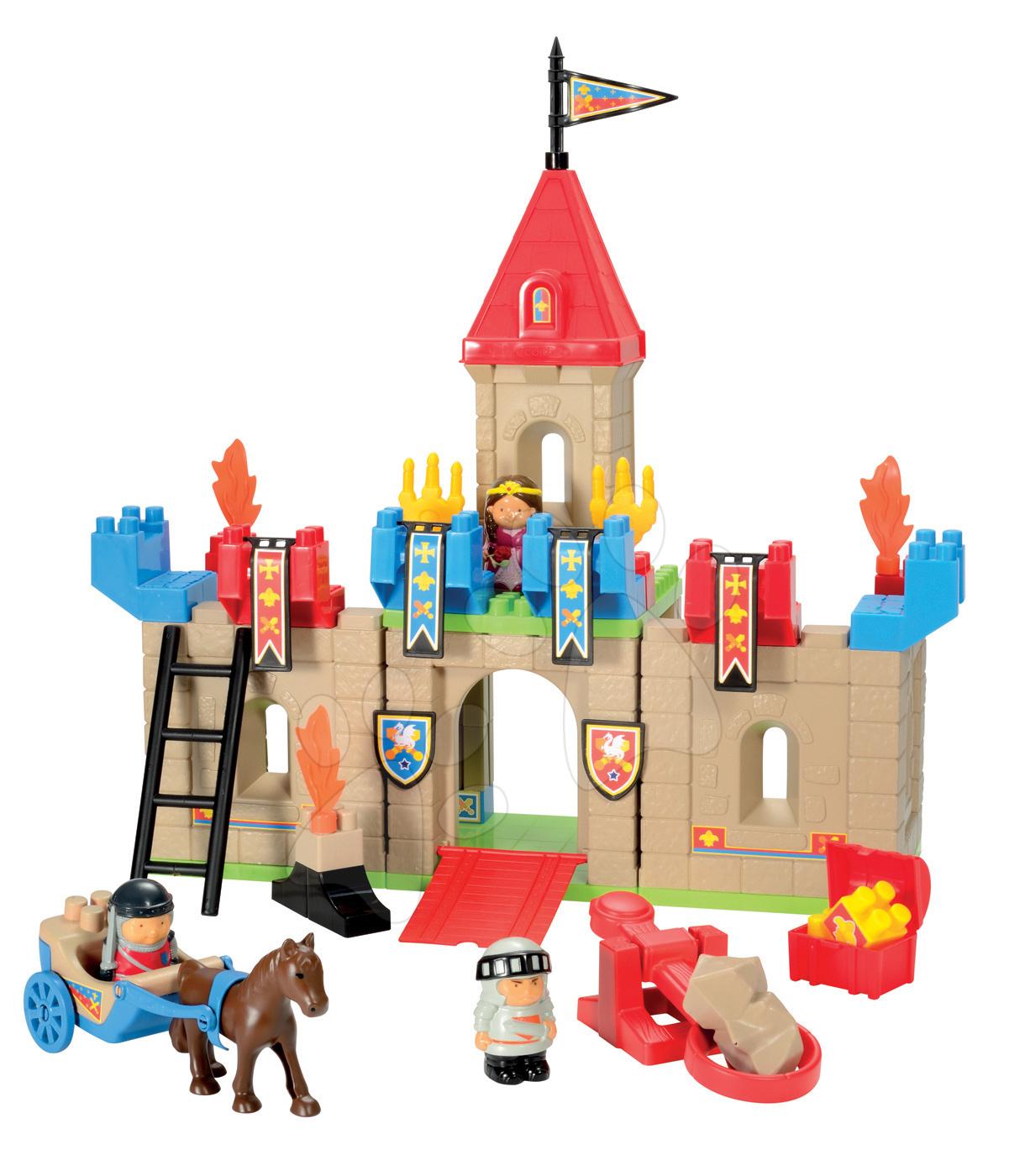 Otroške kocke Abrick - Kocke Abrick – srednjeveški grad Écoiffier 49 delov od 18 mes