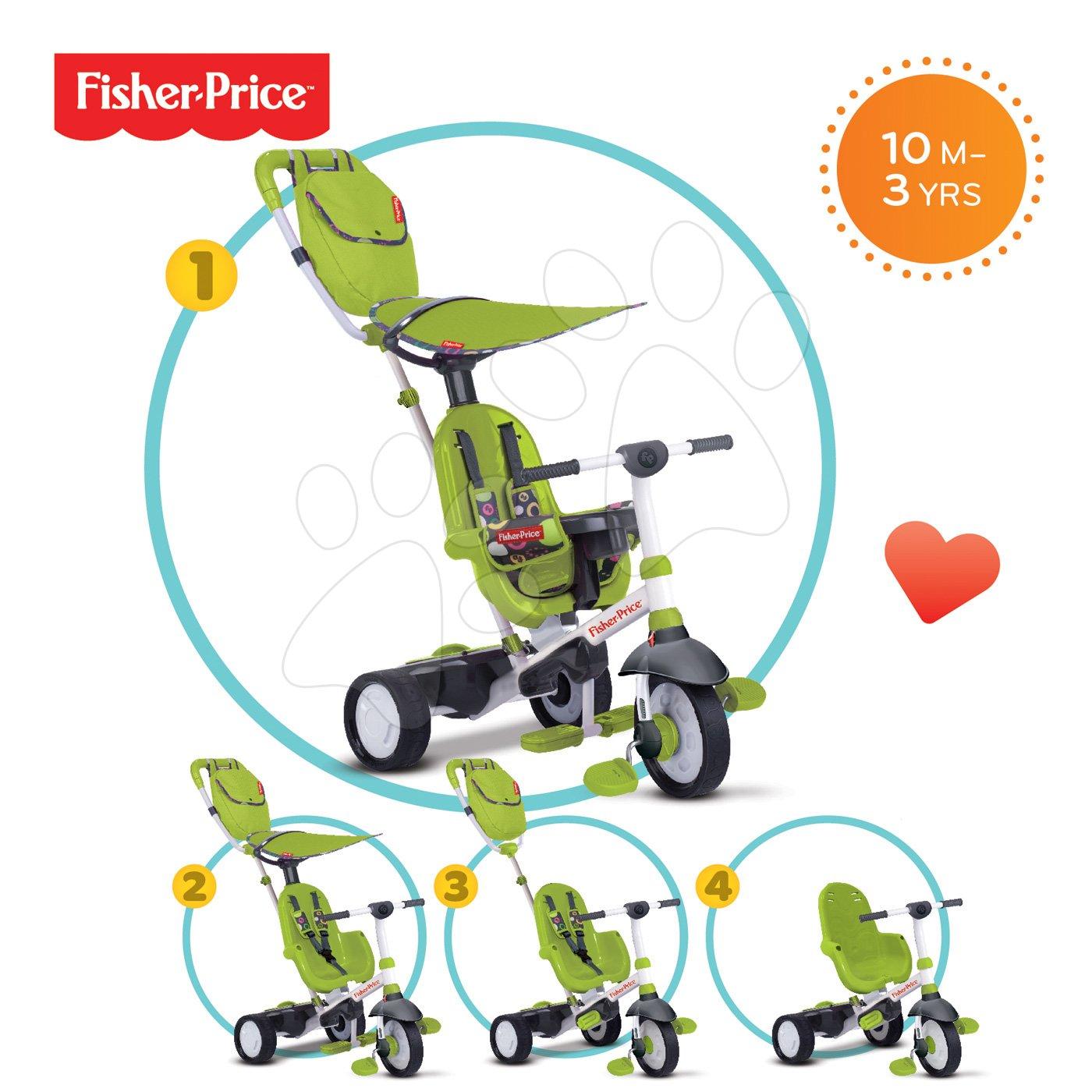 SMART TRIKE 3200033 tricikl Fisher-Price Charisma TouchSteering zeleni s prevlakom i torbom +10 mjeseci 10 mjeseci zeleni